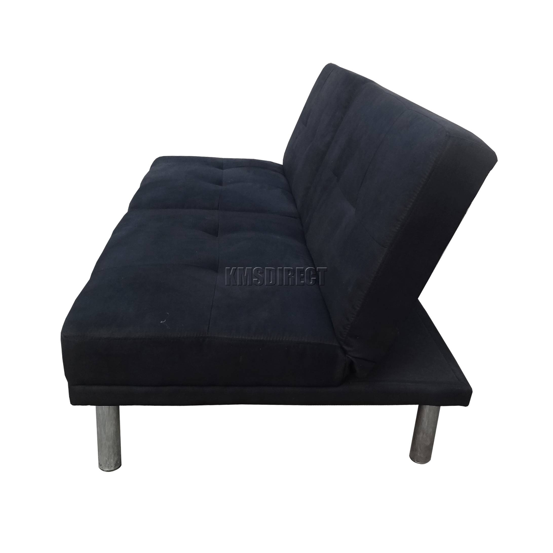 Foxhunter Fabric Faux Suede Sofa Bed Recliner 2 Seater Modern intended for Faux Suede Sofa Bed (Image 16 of 25)