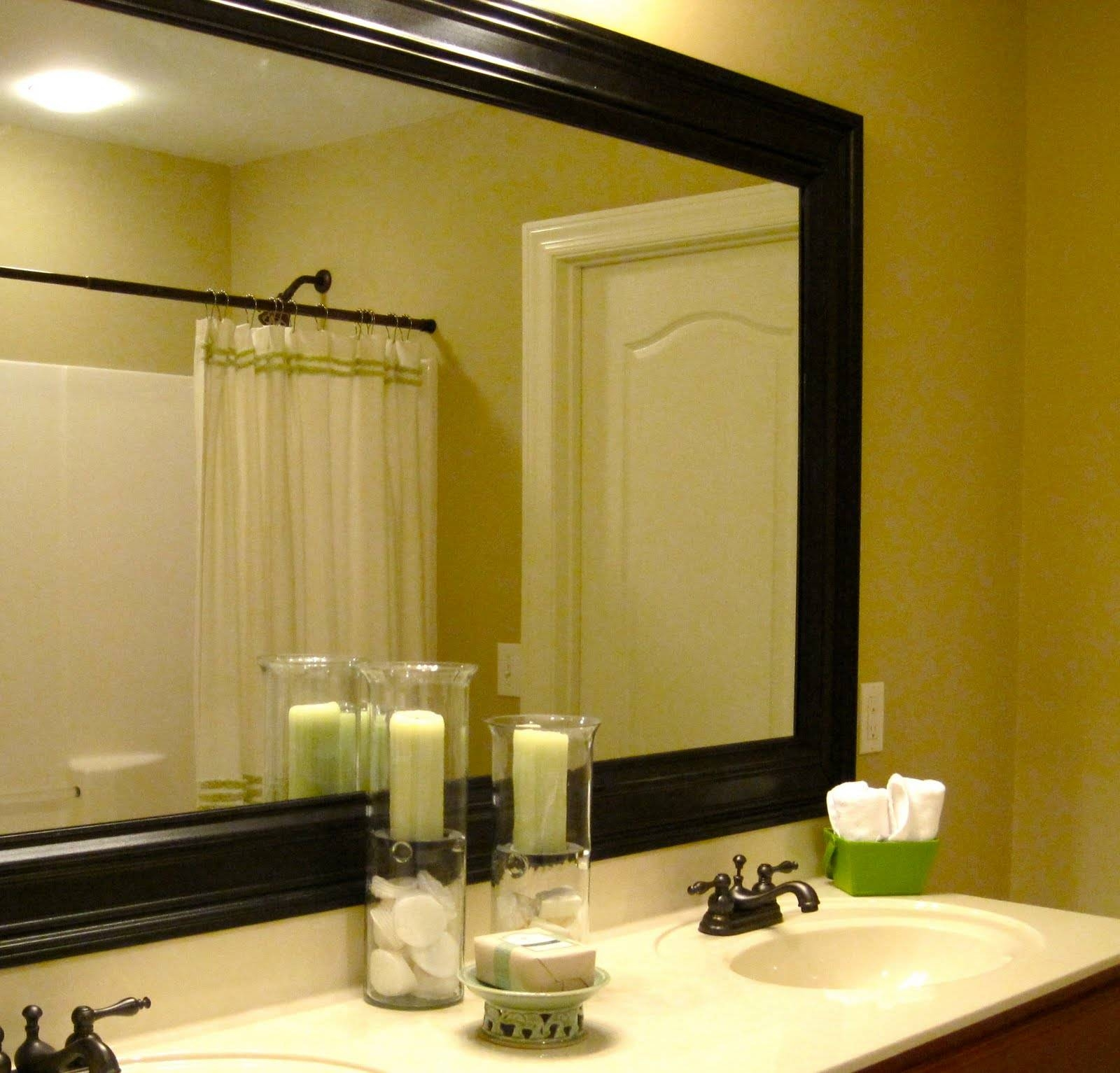 Frame Large Bathroom Mirror Magnificent Ideas Landscape Fresh At in Large Landscape Mirrors (Image 10 of 25)