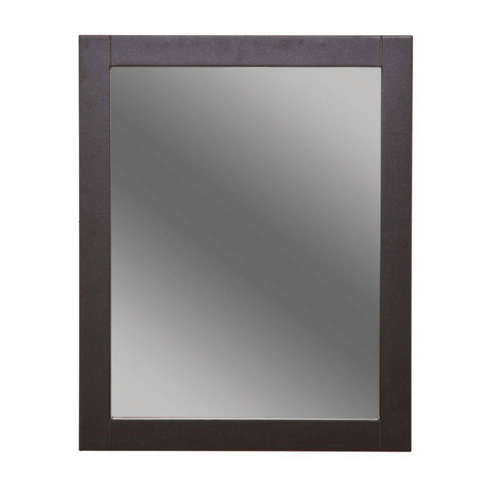 Framed - Bathroom Mirrors - Bath - The Home Depot for Large Pewter Mirrors (Image 6 of 25)