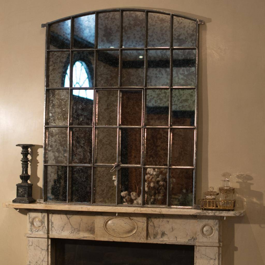 Framed Mirror That Looks Like A Window | Vanity And Nightstand regarding Iron Framed Mirrors (Image 9 of 25)