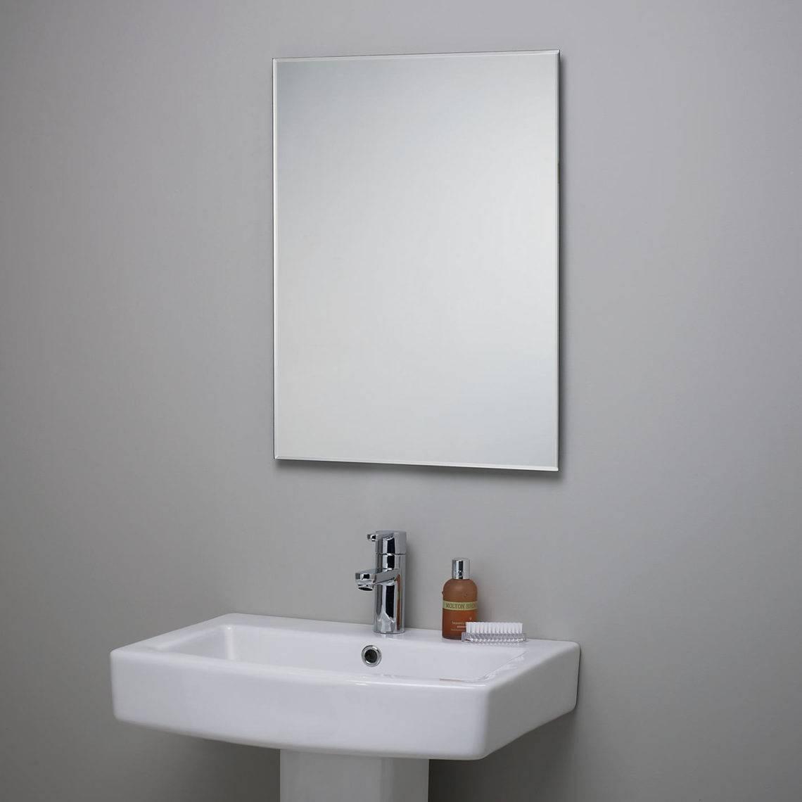 Frameless Bathroom Mirror Large – Harpsounds.co inside Large Frameless Mirrors (Image 6 of 25)