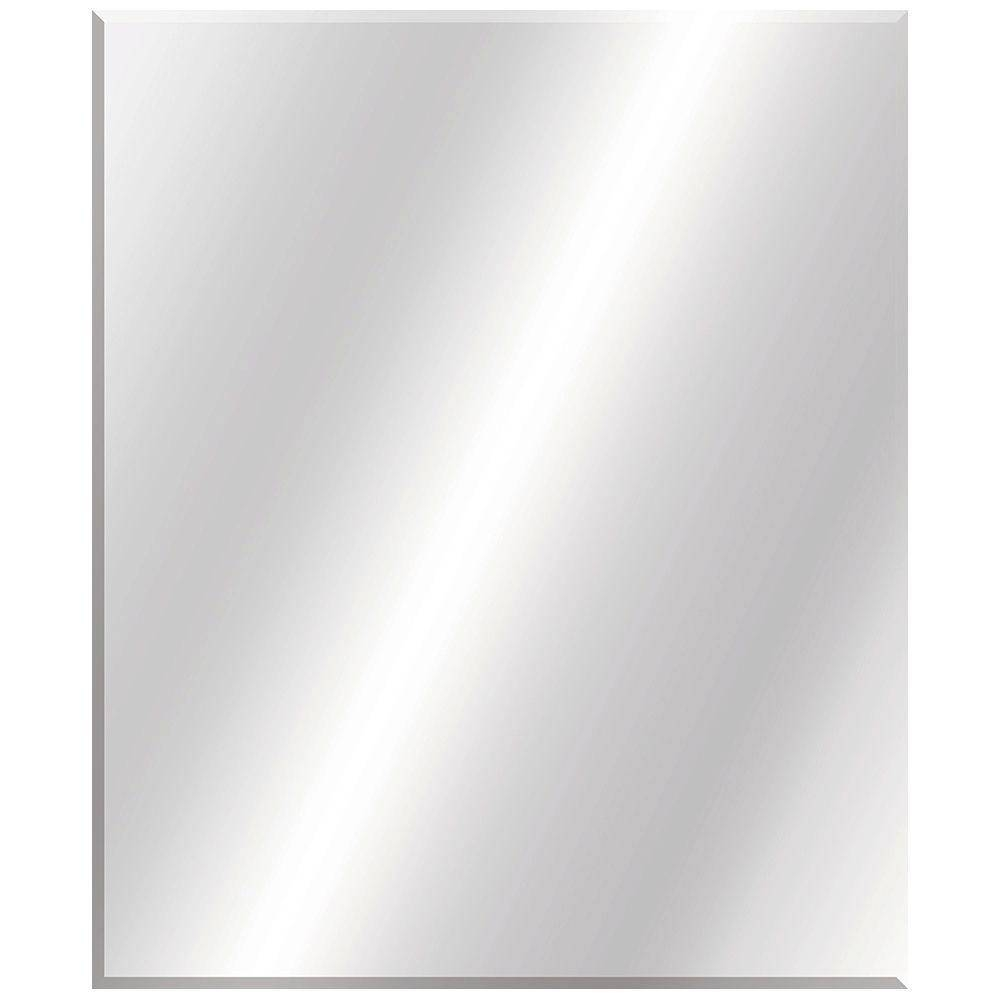 Frameless - Bathroom Mirrors - Bath - The Home Depot for Full Length Frameless Wall Mirrors (Image 5 of 25)
