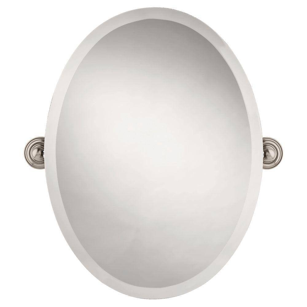 Frameless - Bathroom Mirrors - Bath - The Home Depot with regard to Beveled Edge Oval Mirrors (Image 12 of 25)