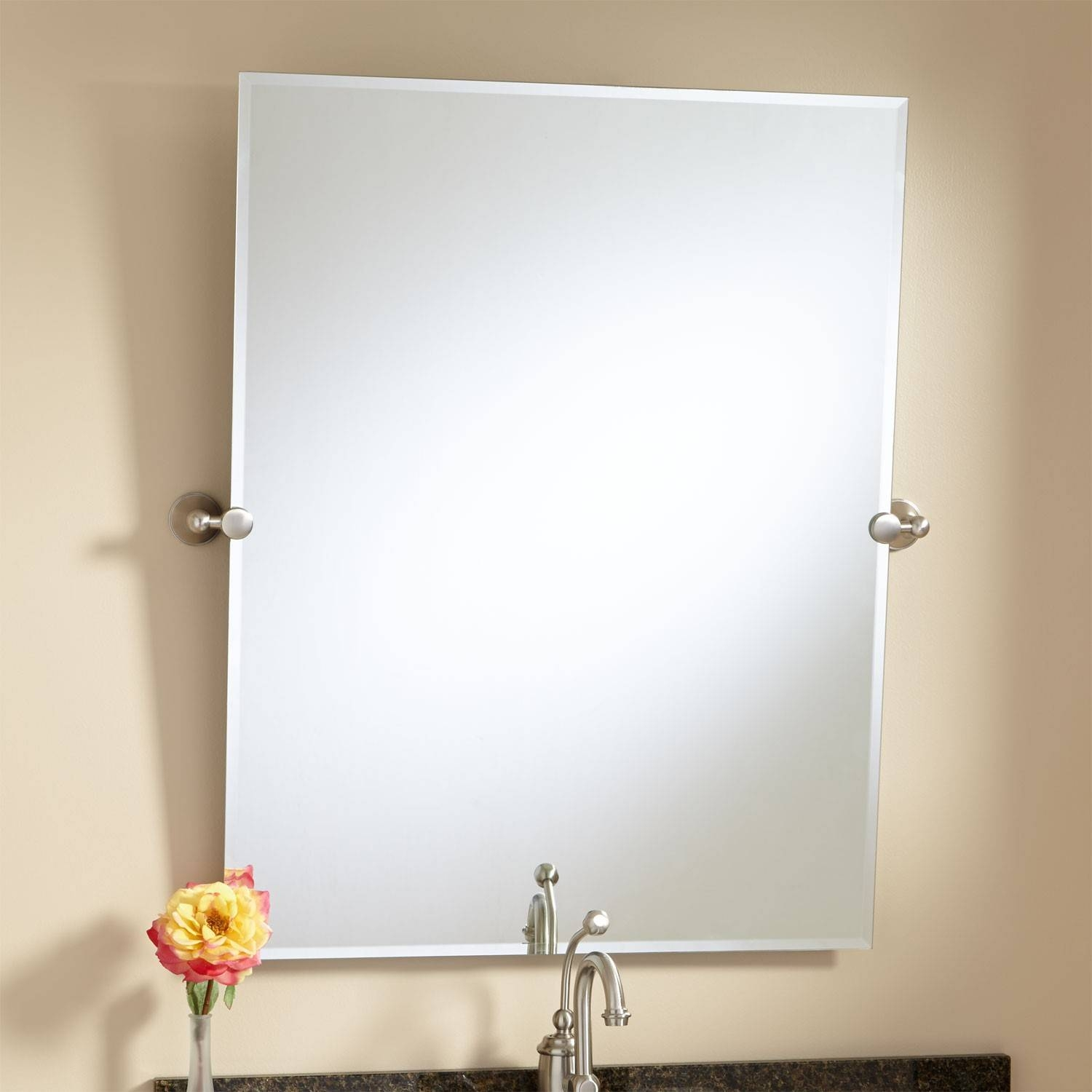 Frameless Bathroom Mirrors | Signature Hardware Pertaining To Antique Frameless Mirrors (View 22 of 25)