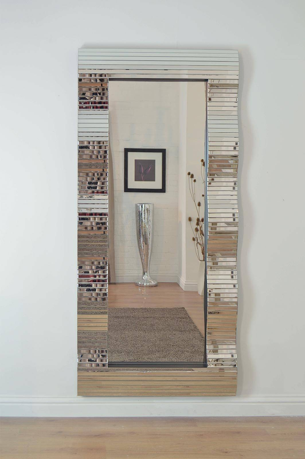Frameless Full Length Wall Mirror 26 Breathtaking Decor Plus throughout Frameless Large Wall Mirrors (Image 4 of 25)