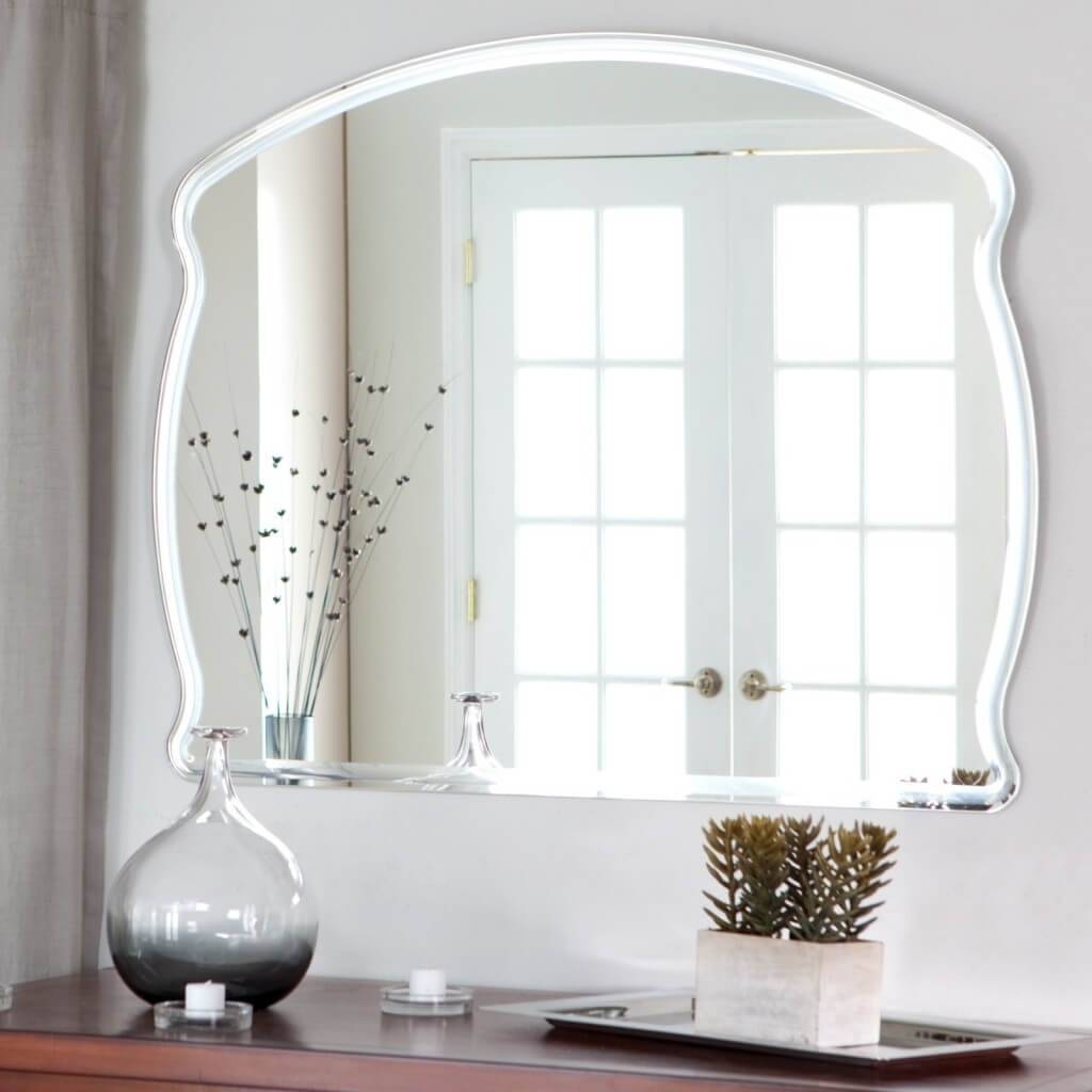 Frameless Full Length Wall Mirror 93 Beautiful Decoration Also throughout Large Frameless Wall Mirrors (Image 2 of 25)