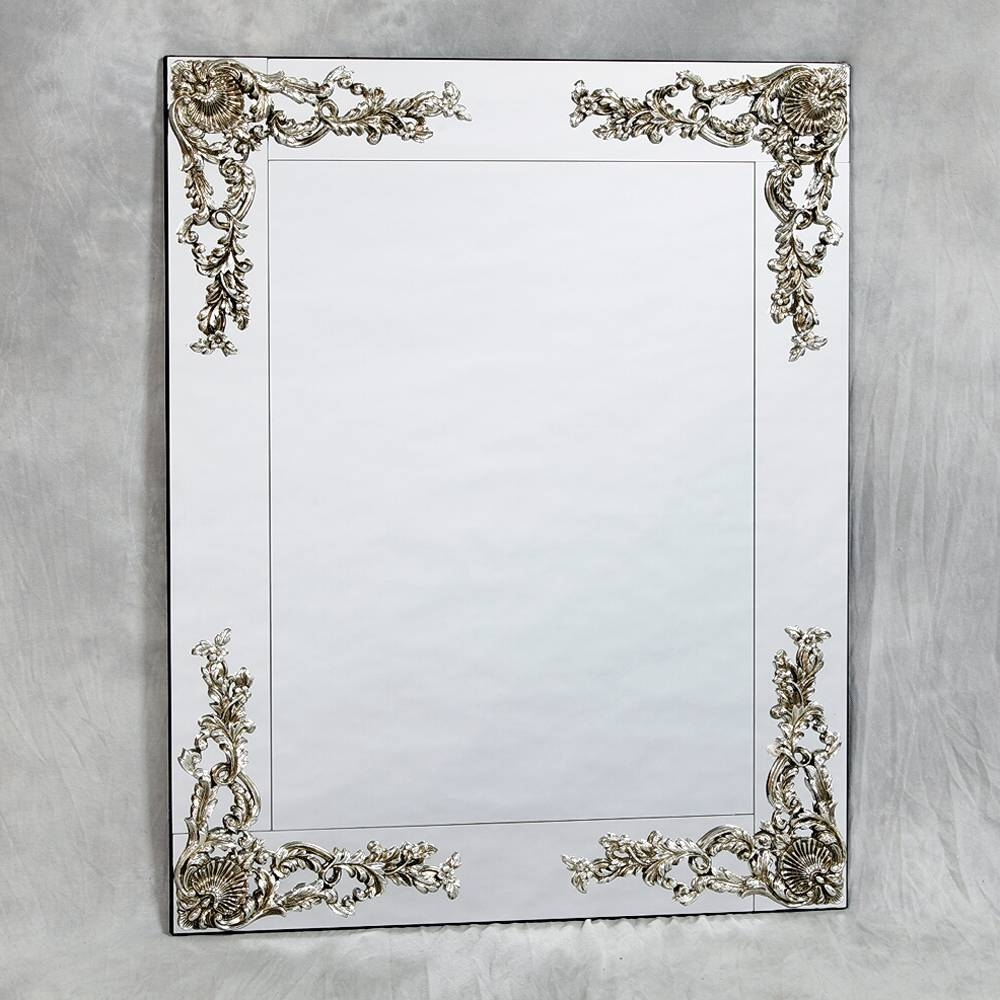 Frameless Metallic Wall Mirror 104 X 84Cm Frameless Metallic Wall inside Square Venetian Mirrors (Image 11 of 25)