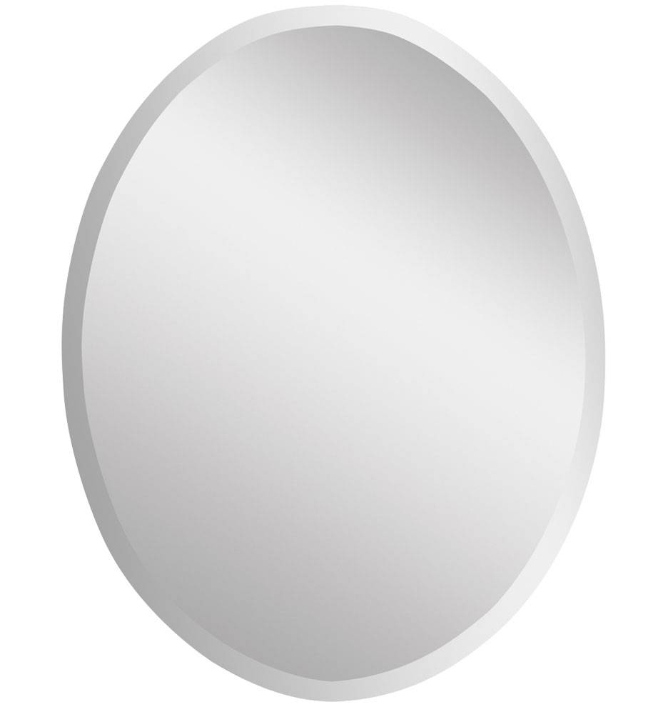Frameless Oval Mirror, Large | Rejuvenation intended for White Oval Mirrors (Image 4 of 25)