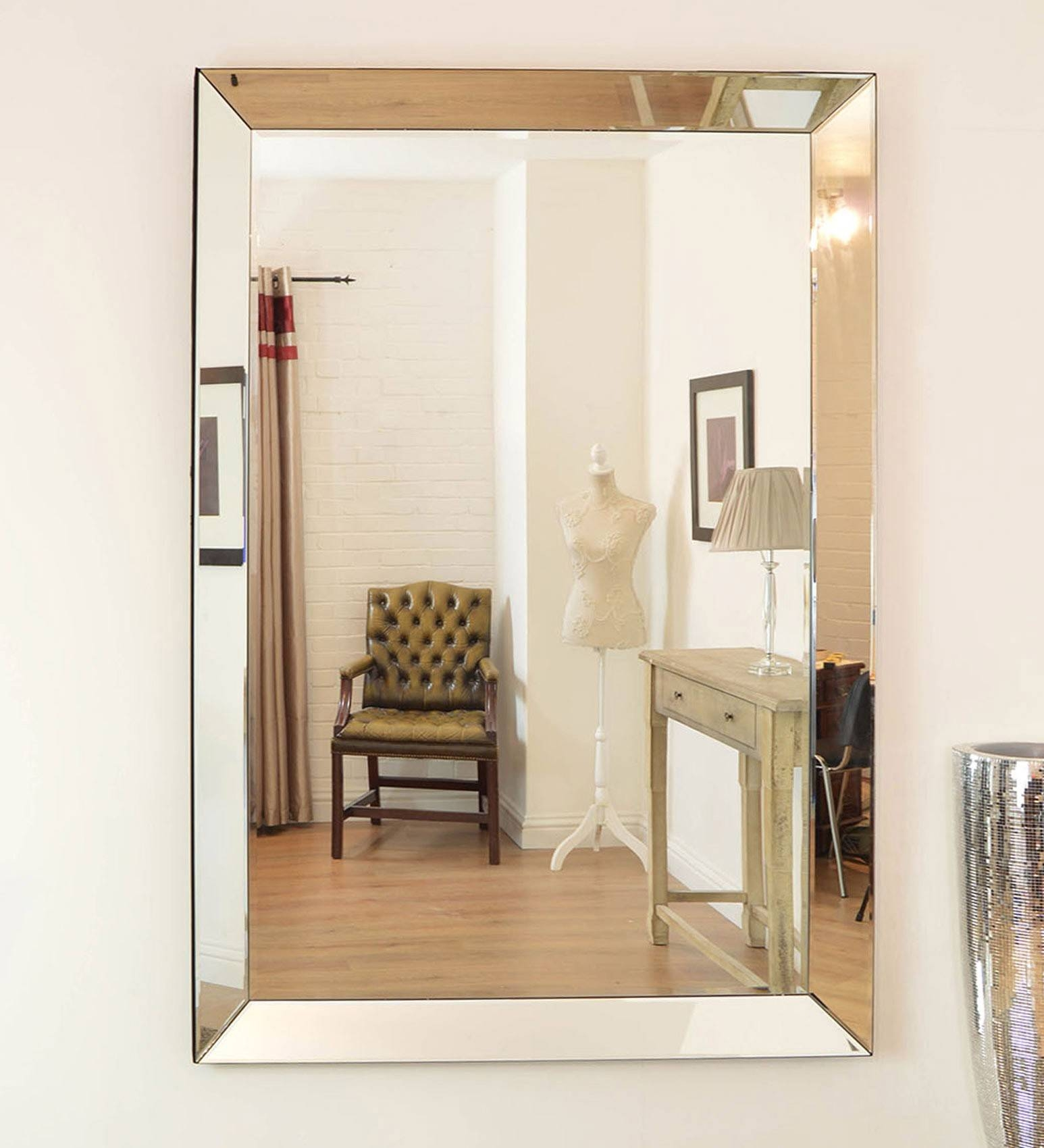 Frameless Wall Mirror Design And Ideas | Vwho inside Large Frameless Wall Mirrors (Image 3 of 25)