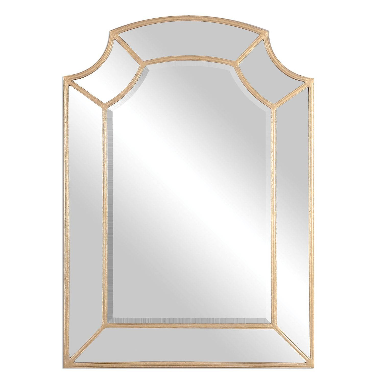 Francoli Gold Arch Mirror Uttermost Wall Mirror Mirrors Home Decor regarding Gold Arch Mirrors (Image 6 of 25)