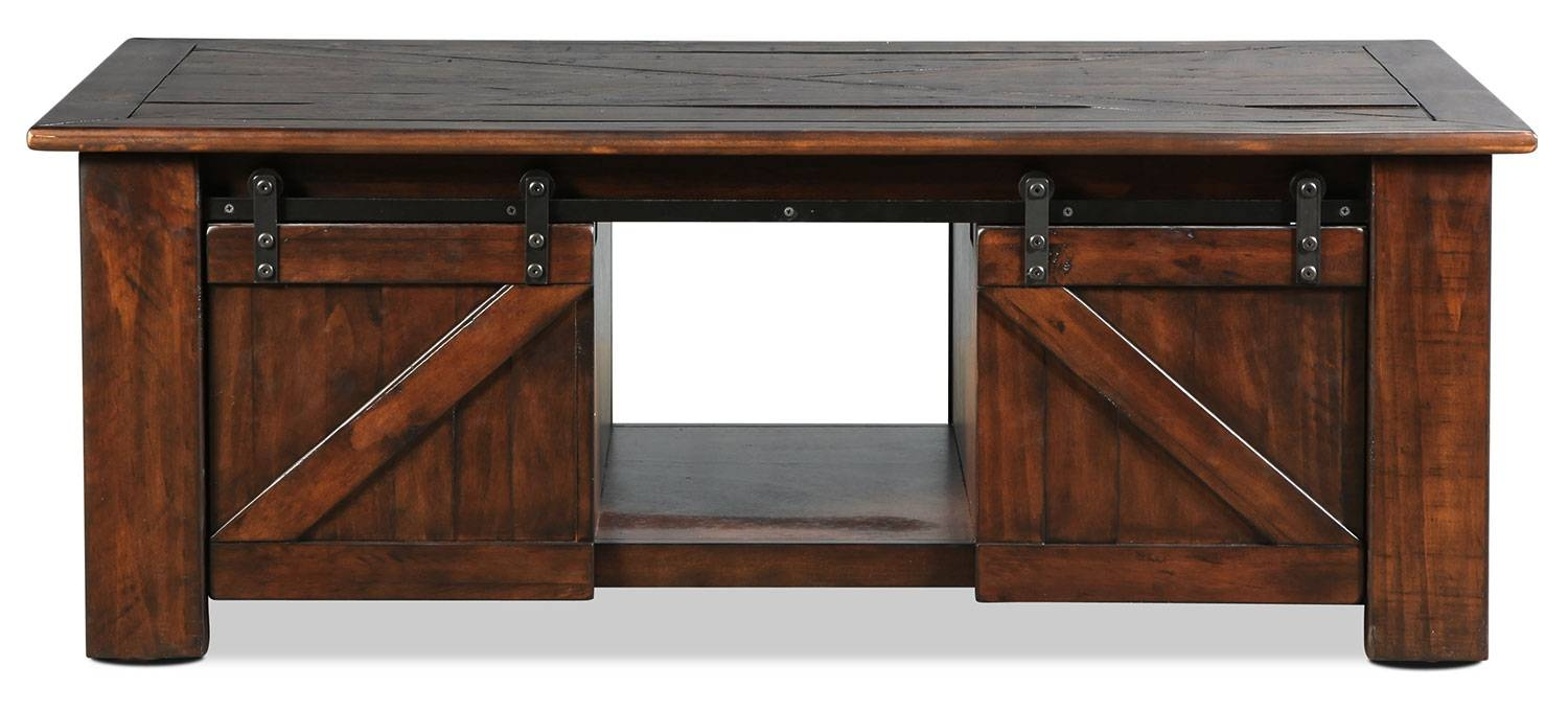 Fraser Lift-Top Coffee Table - Rustic Pine | Levin Furniture intended for Desk Coffee Tables (Image 8 of 30)