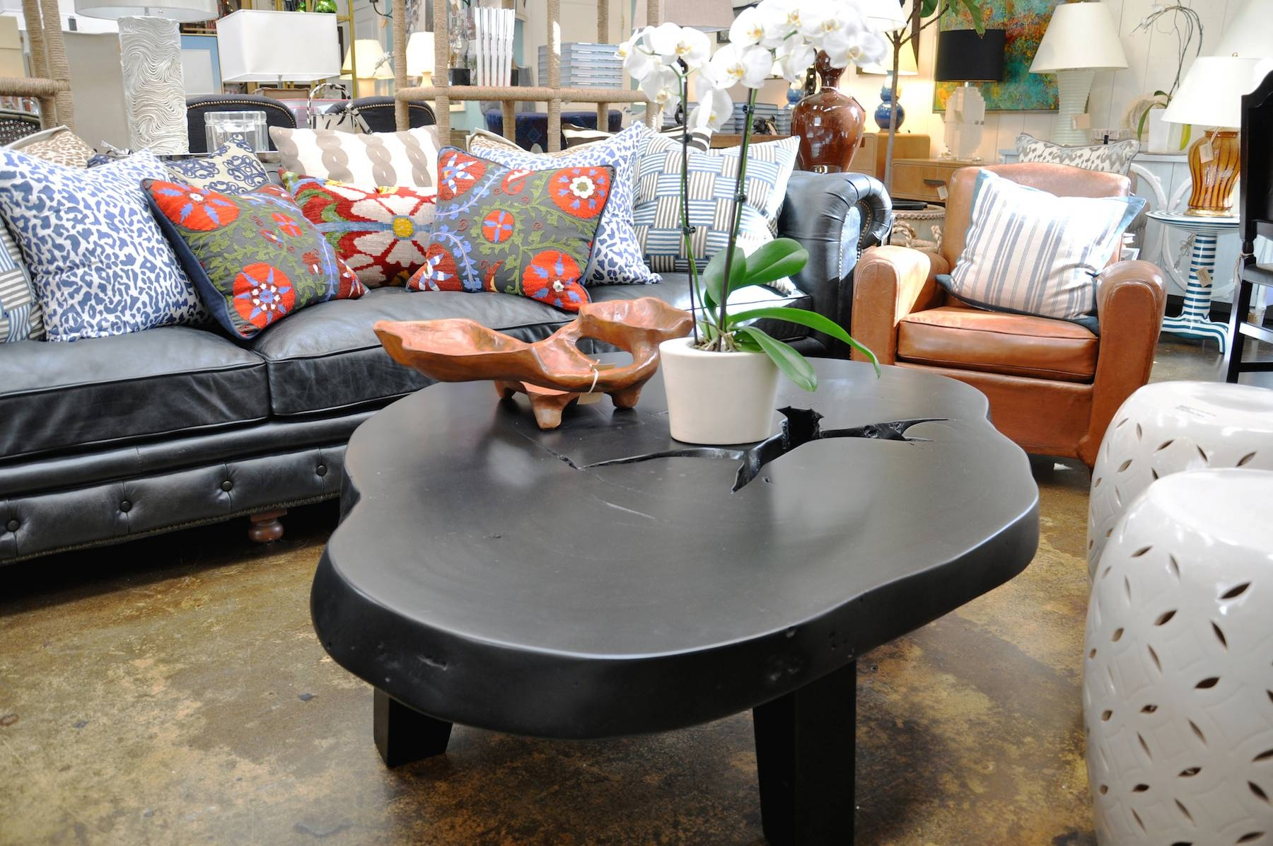 Free Form Albezia Wood Coffee Table - Mecox Gardens throughout Free Form Coffee Tables (Image 9 of 30)
