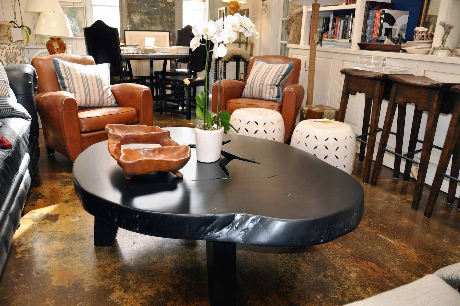 Free Form Albezia Wood Coffee Table - Mecox Gardens with Free Form Coffee Tables (Image 10 of 30)