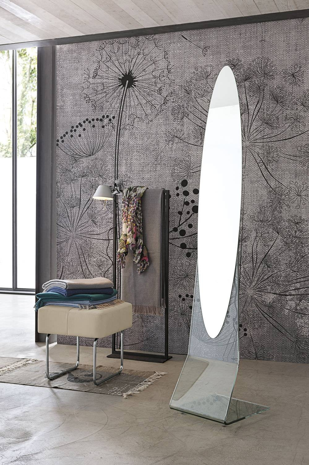 Free-Standing Mirror / Contemporary / Oval - Narciso - Target for Oval Freestanding Mirrors (Image 13 of 25)