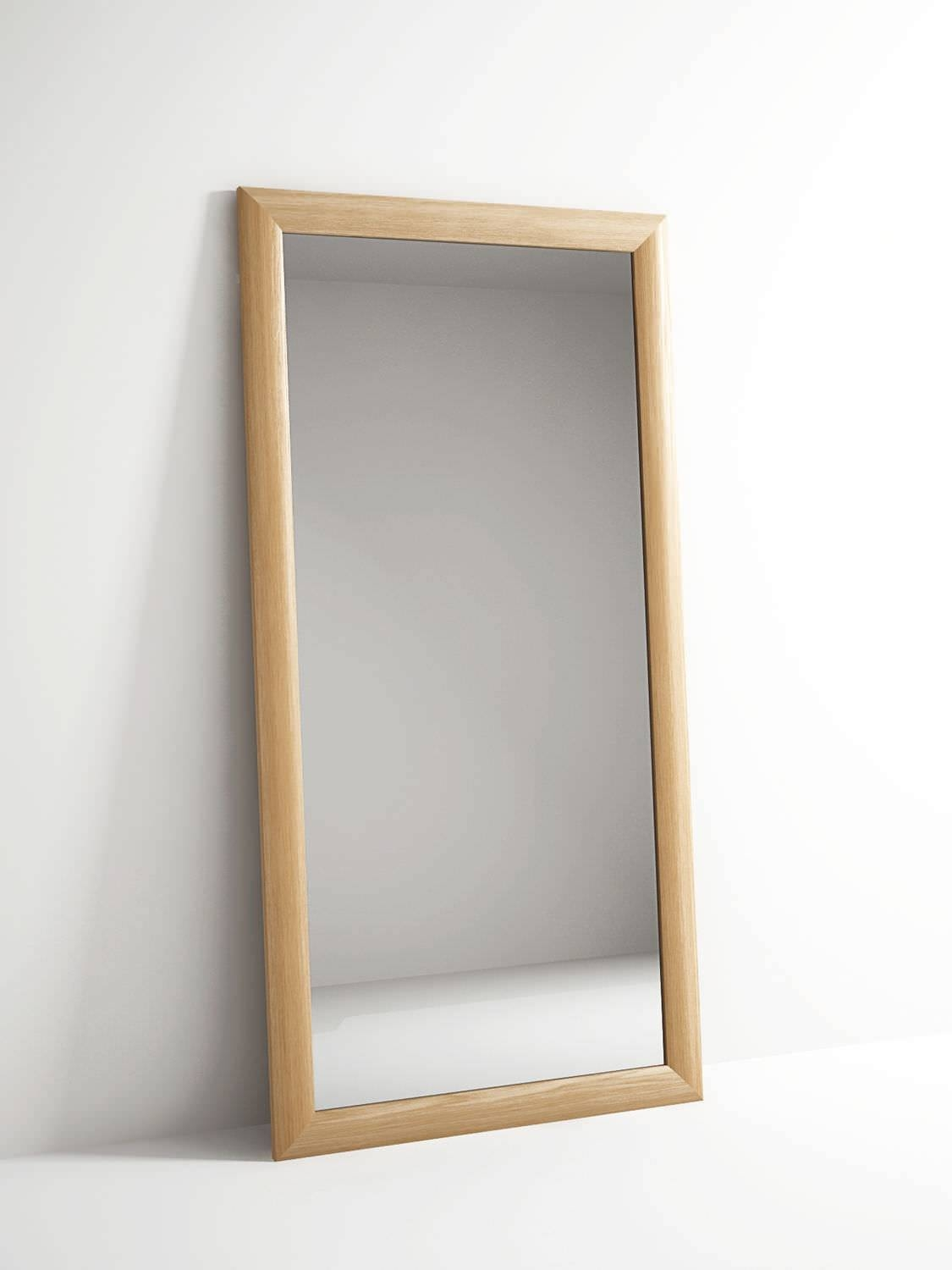 Free-Standing Mirror / Contemporary / Rectangular / Oak - Vi40 intended for Long Free Standing Mirrors (Image 11 of 25)
