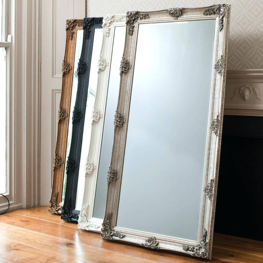 Free Standing Mirror Jewelry Armoirelarge Ornate Floor Mirrors Big with regard to Large Floor Standing Mirrors (Image 13 of 25)