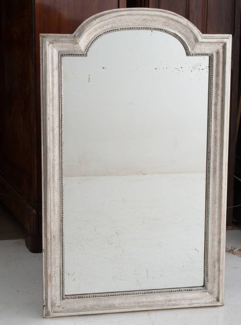 French 19Th Century Louis Philippe Silver Gilt Mirror For Sale At inside Silver Gilt Mirrors (Image 8 of 25)
