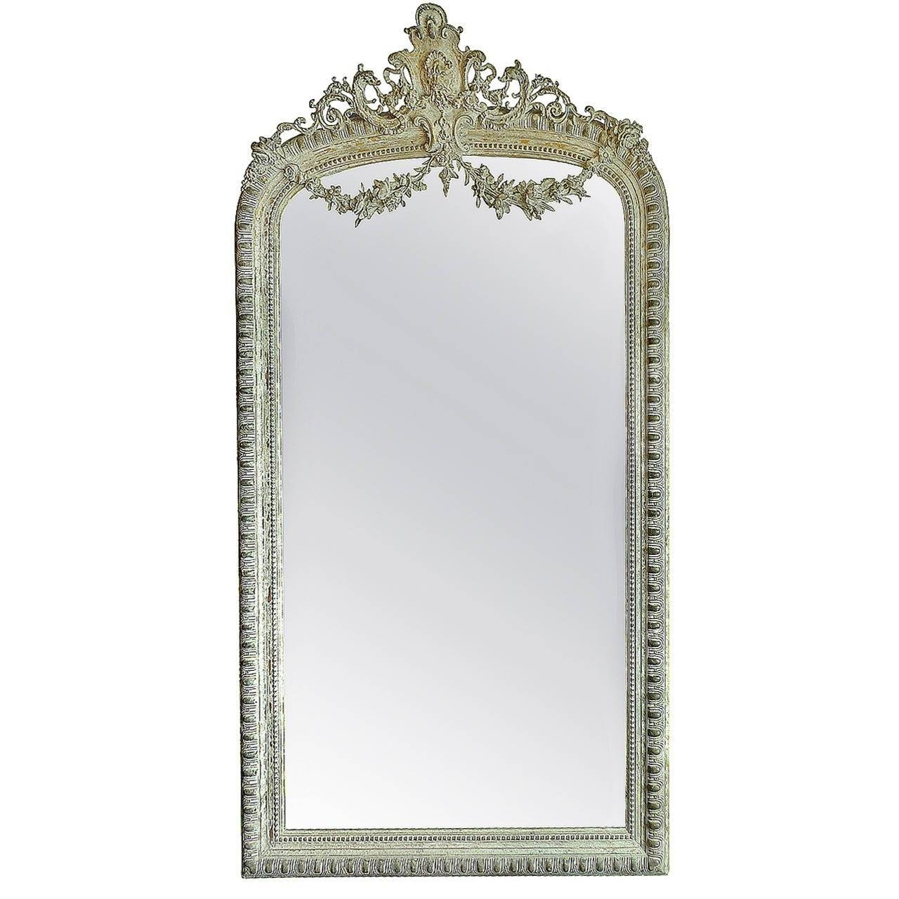 French 19Th Century Napoleon Iii Full Length Mirror At 1Stdibs Throughout French Full Length Mirrors (View 9 of 25)