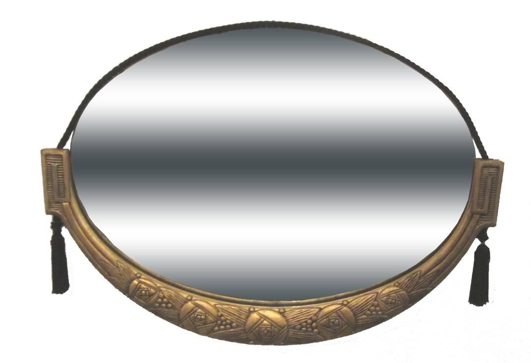 French Art Deco Gold Leaf Mirror | Modernism Gallery throughout Antique Art Deco Mirrors (Image 20 of 25)