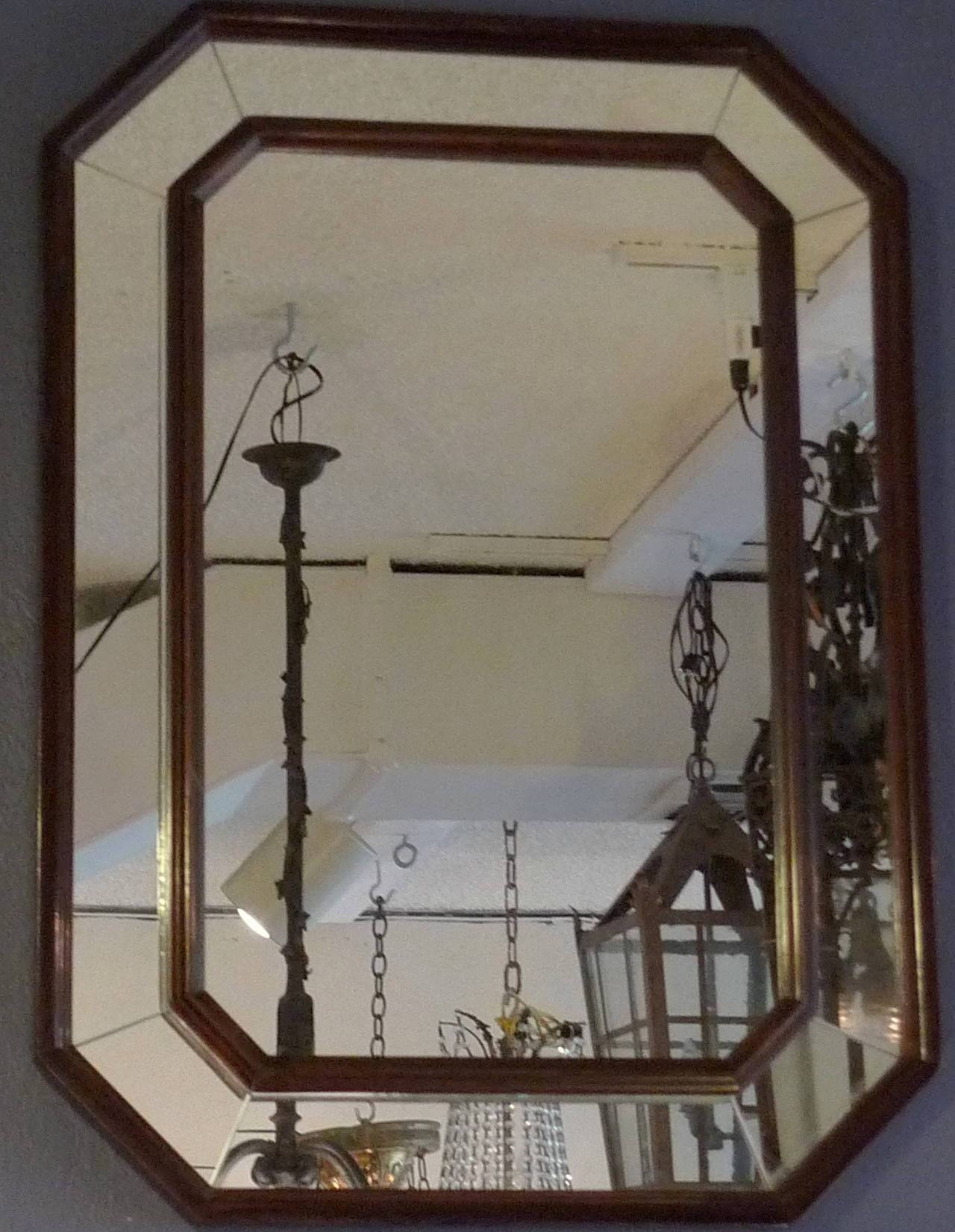 French Art Deco Wood Frame Mirror With Original Glass At 1Stdibs with Art Deco Mirrors (Image 17 of 25)