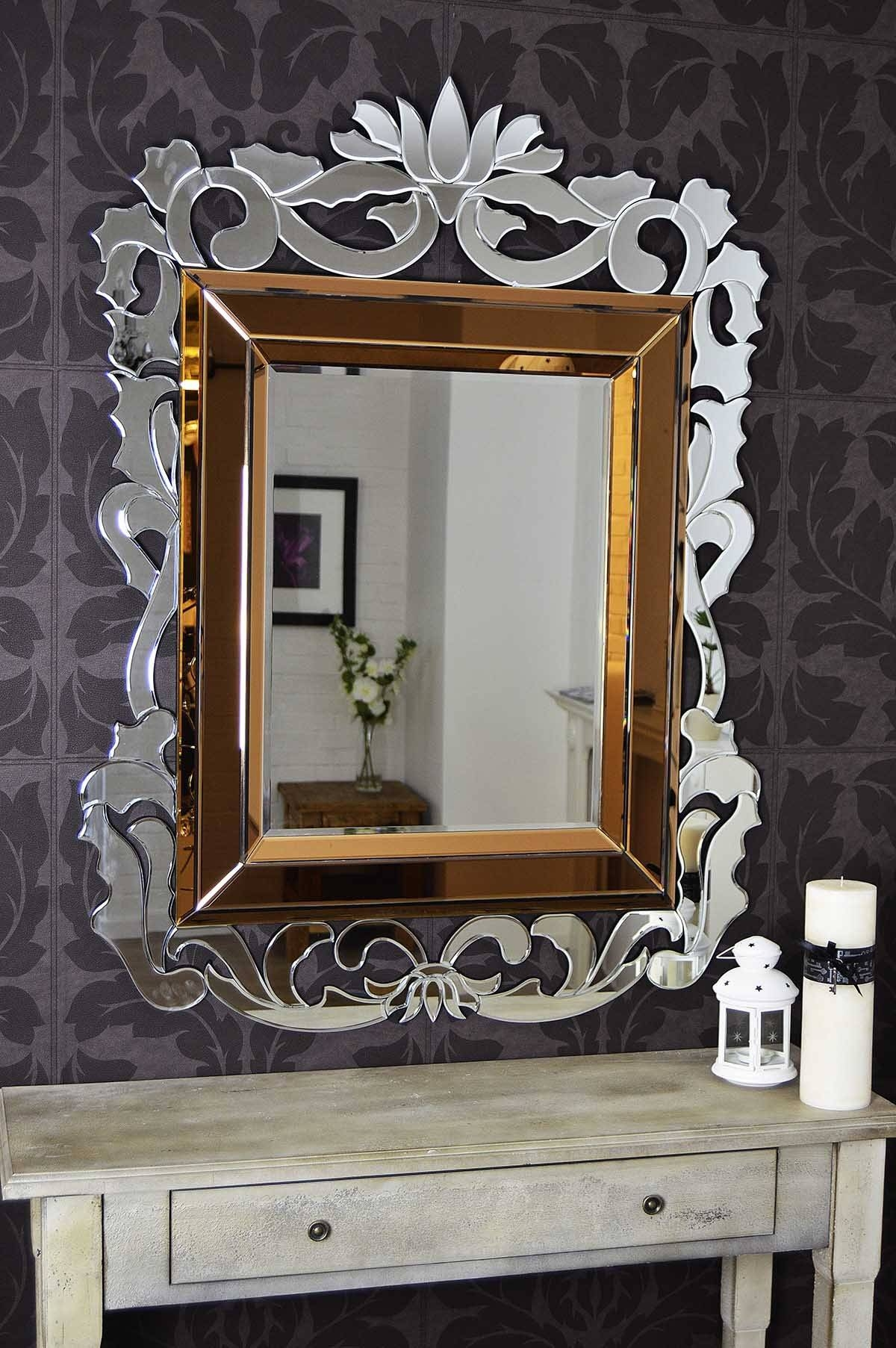 French Baroque Style Bronze Venetian Wall Mirror Jh004 Pertaining To Baroque Style Mirrors (View 14 of 25)