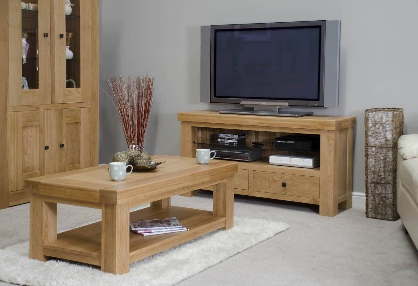 French Bordeaux Oak Large Coffee Table | Oak Furniture Uk within Bordeaux Coffee Tables (Image 15 of 30)