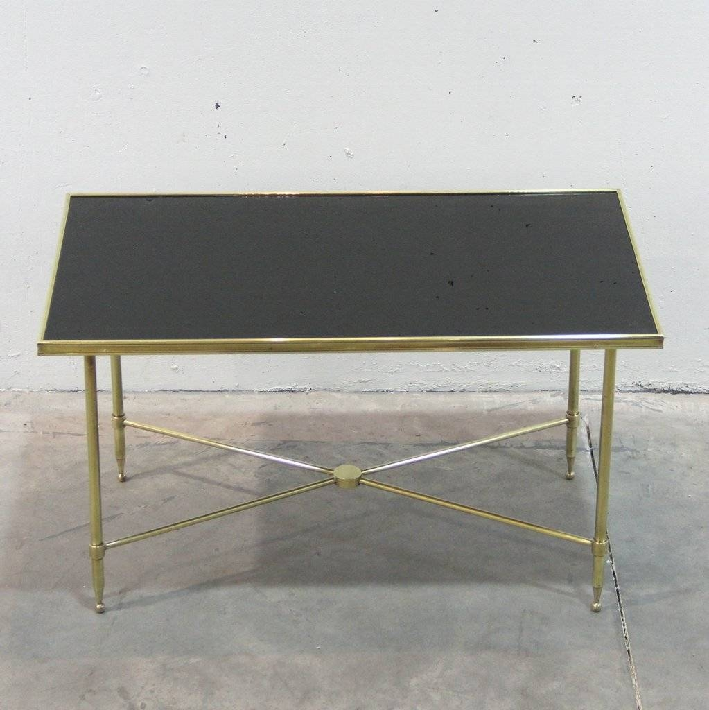 French Brass And Black Glass Coffee Table, 1940S For Sale At Pamono with regard to Black Glass Coffee Tables (Image 19 of 30)