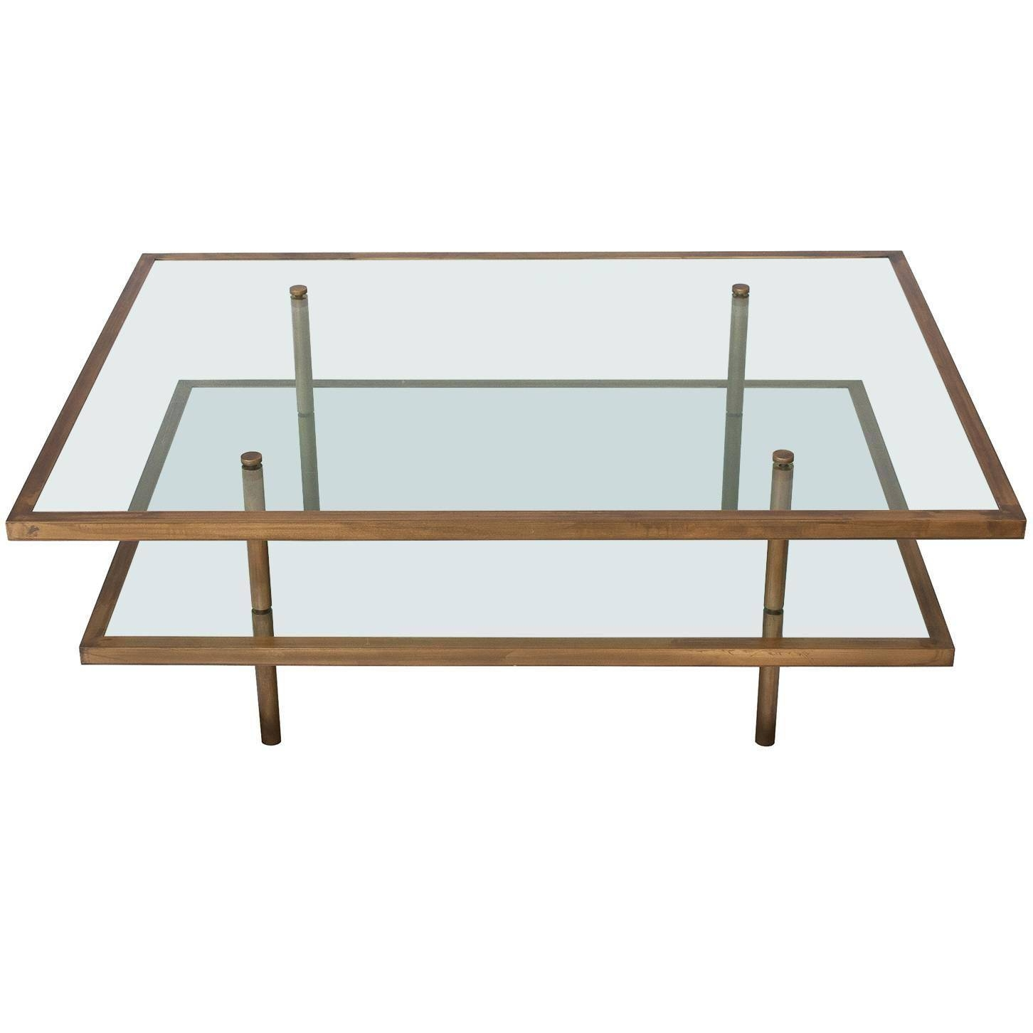 French Bronze And Glass Two-Tier Coffee Table At 1Stdibs in Bronze Coffee Tables (Image 15 of 30)