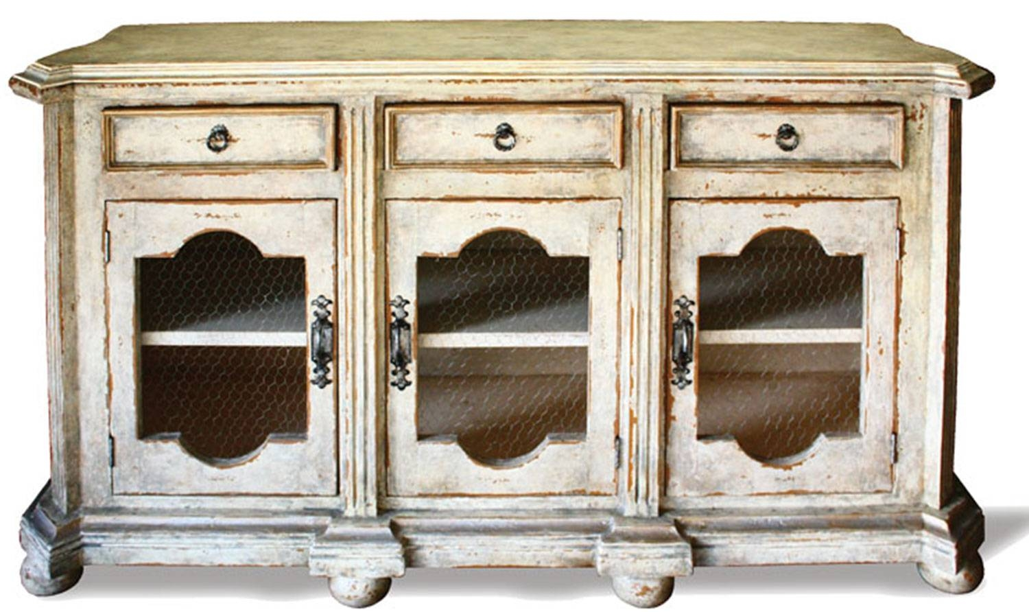 French Country Sideboard Belle Noir Grey | The Koenig Collection inside French Country Sideboards (Image 12 of 30)