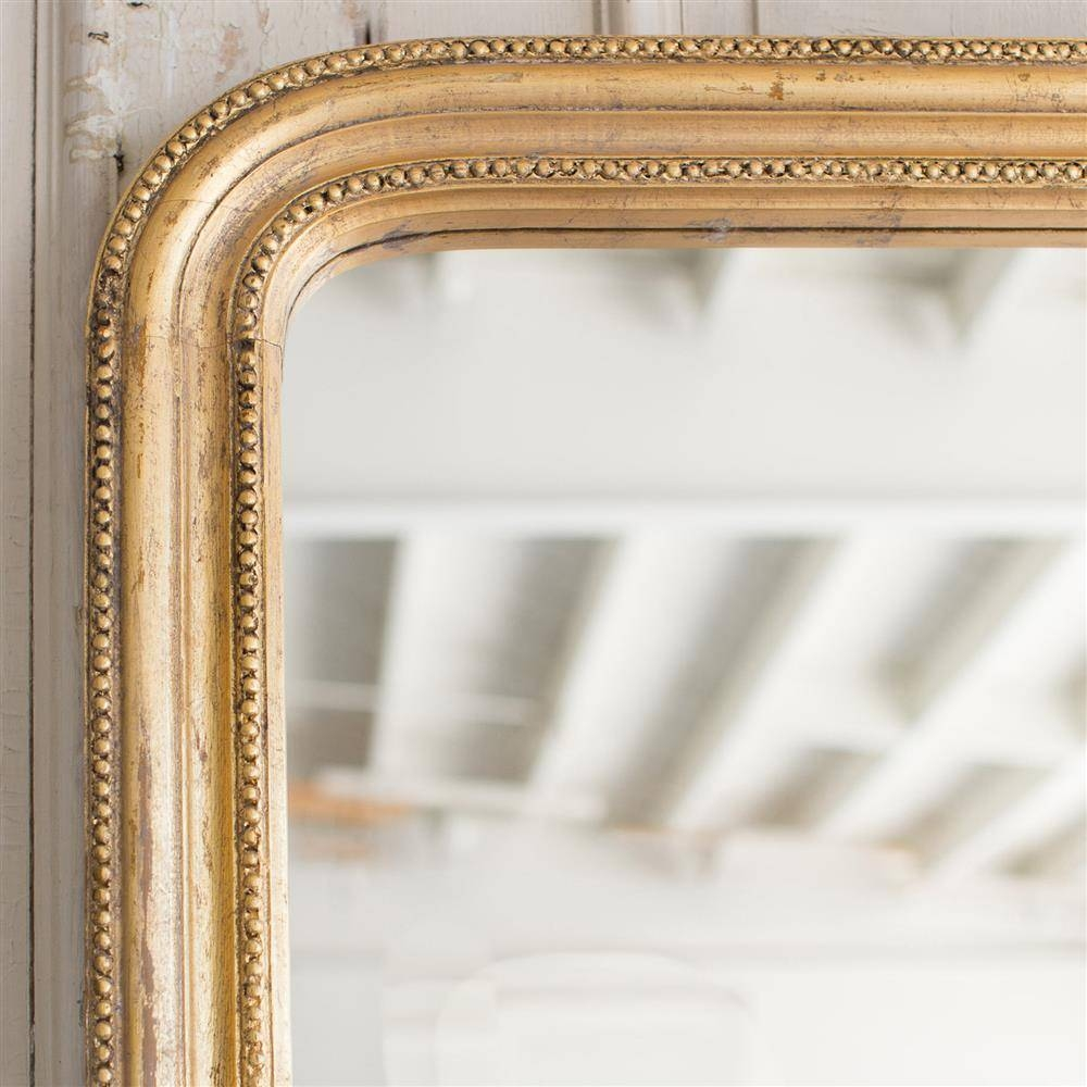 French Country Style Vintage Style Mirror: 1940 | Kathy Kuo Home intended for Vintage Style Mirrors (Image 16 of 25)
