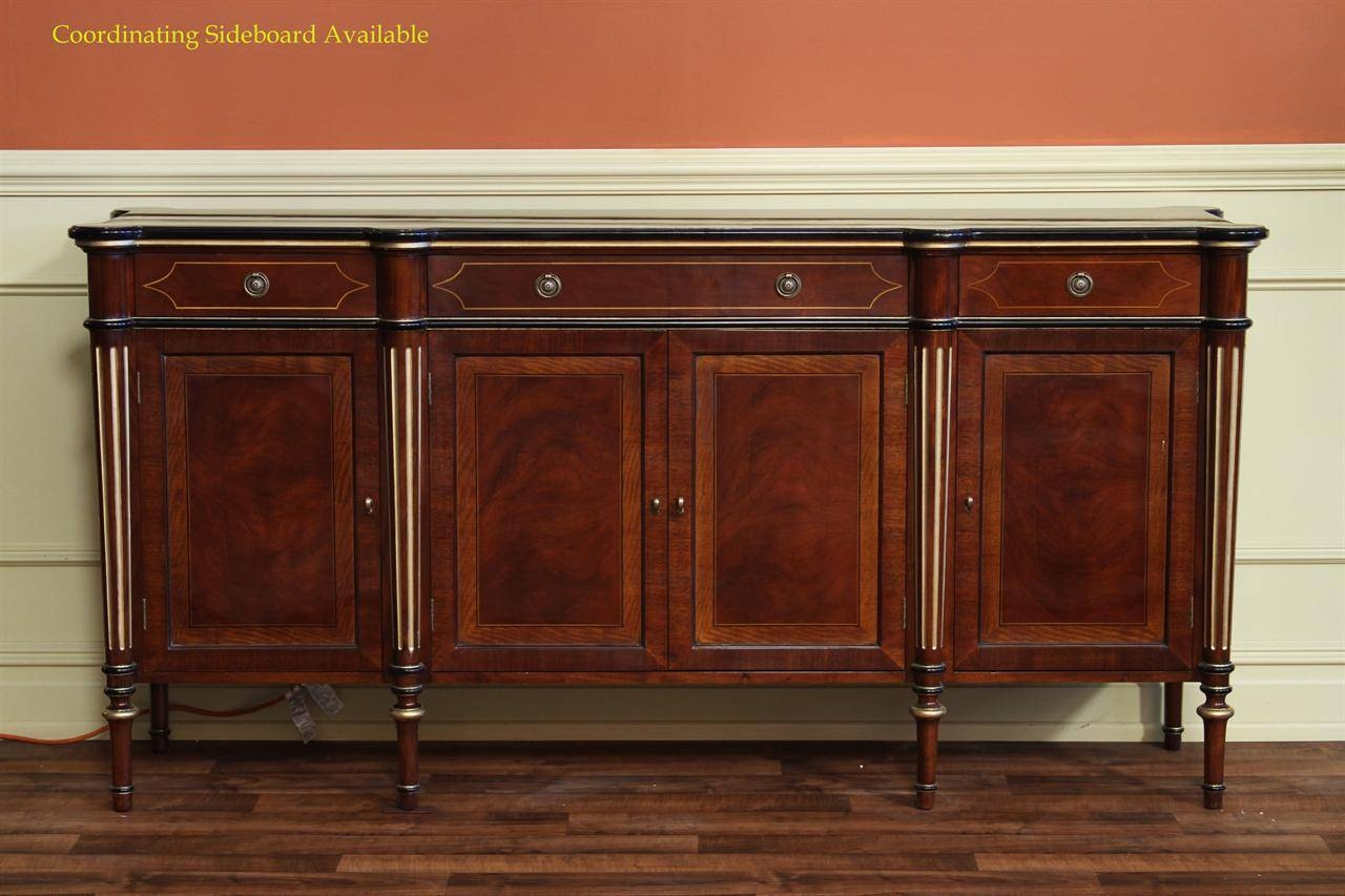 French Empire Double Pedestal Dining Table|12 Seat Dining Table with French Style Sideboards (Image 3 of 30)