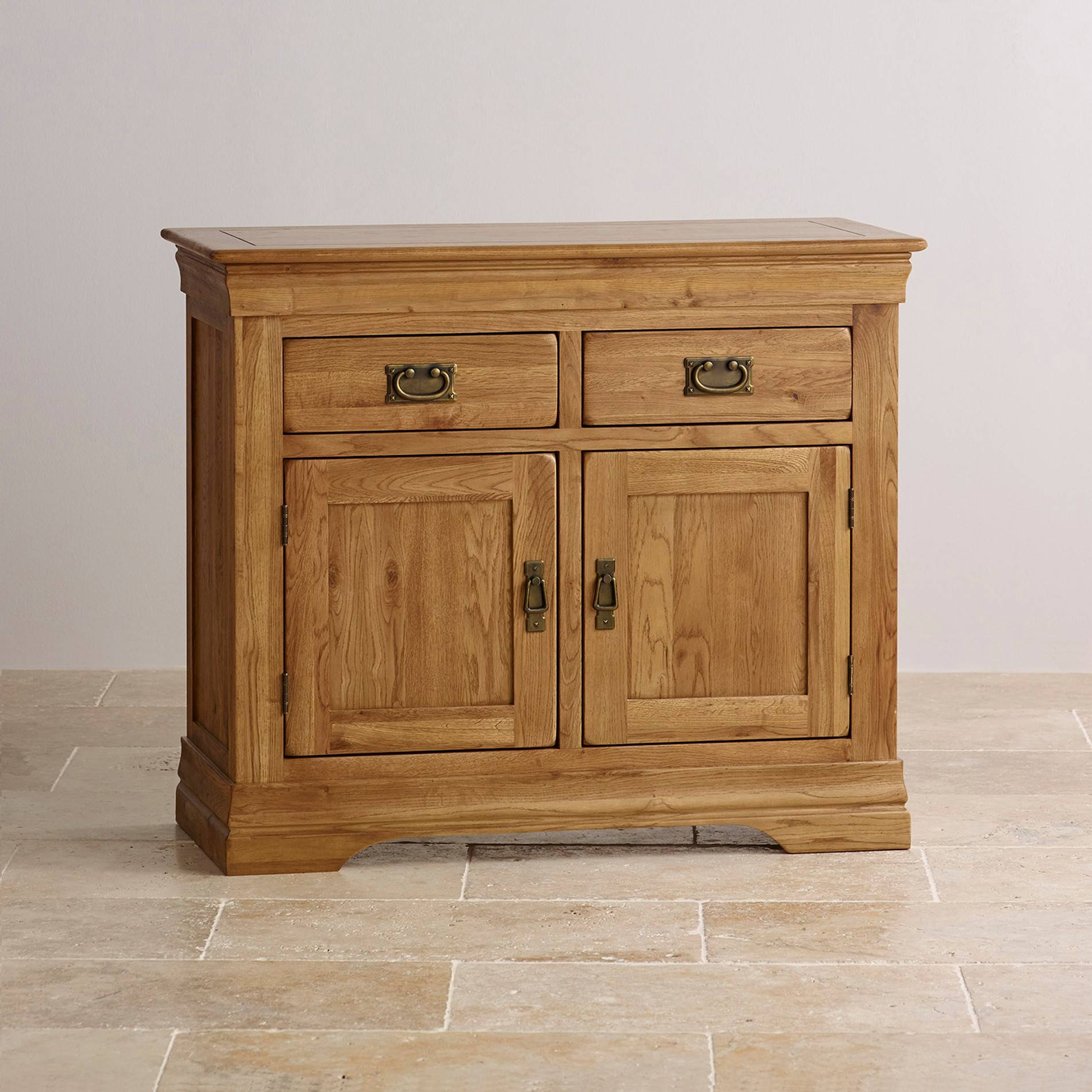 French Farmhouse Small Sideboard In Solid Oak intended for Light Oak Sideboards (Image 6 of 30)