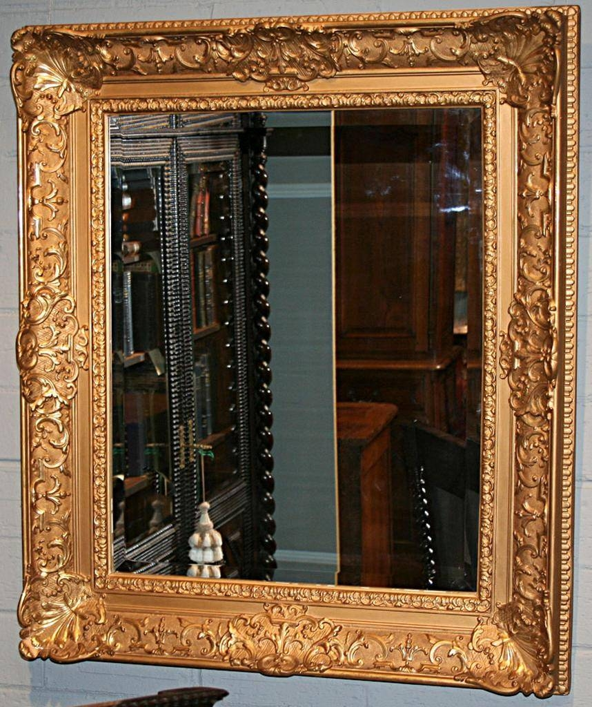 French Gilt Framed Mirror From Antiquing-With-Pamela On Ruby Lane within Gilt Framed Mirrors (Image 9 of 25)