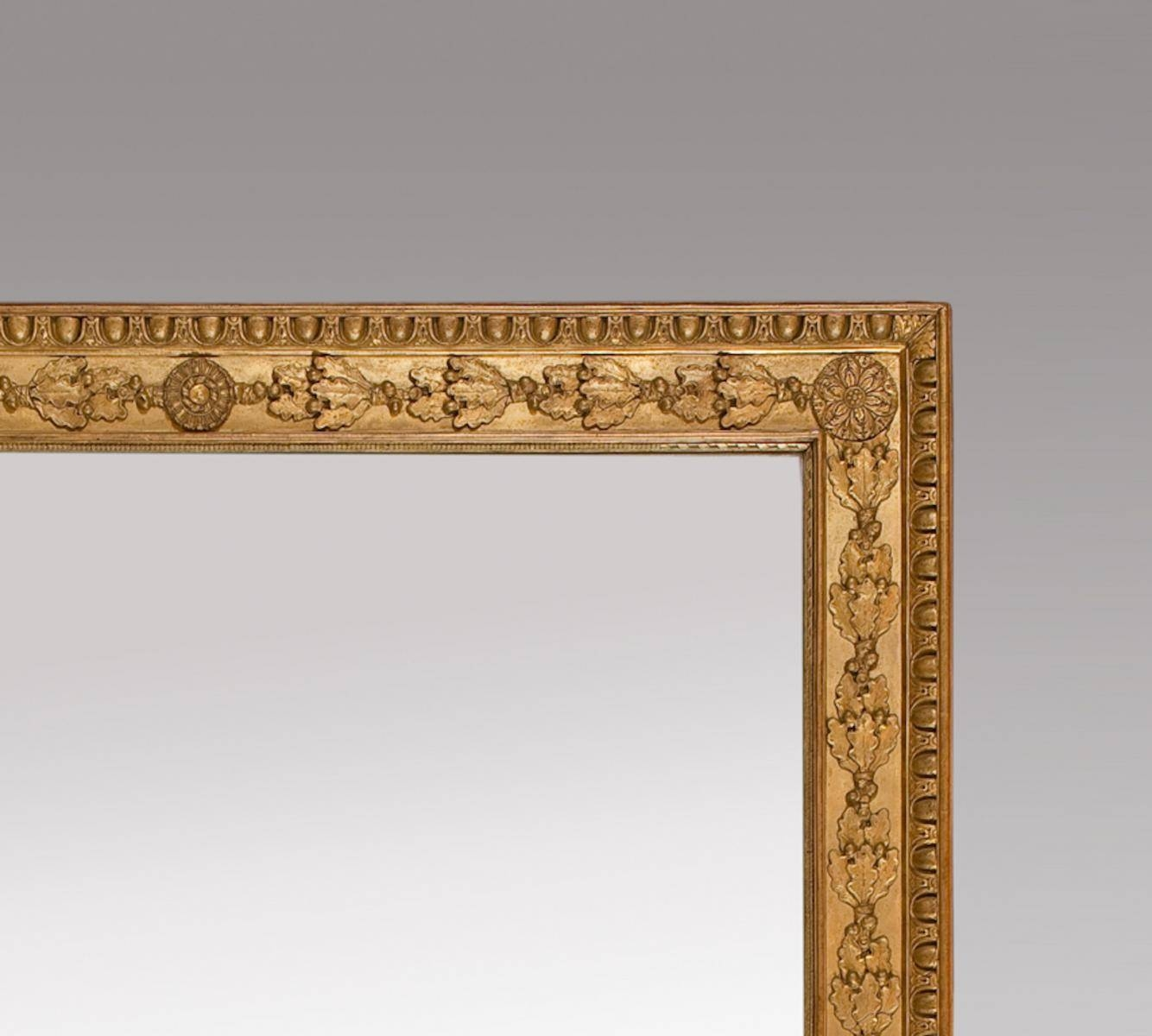 French Gilt Mirrors With Oak Leaves And Rosettes, Set Of 2 For pertaining to Gilt Mirrors (Image 6 of 25)