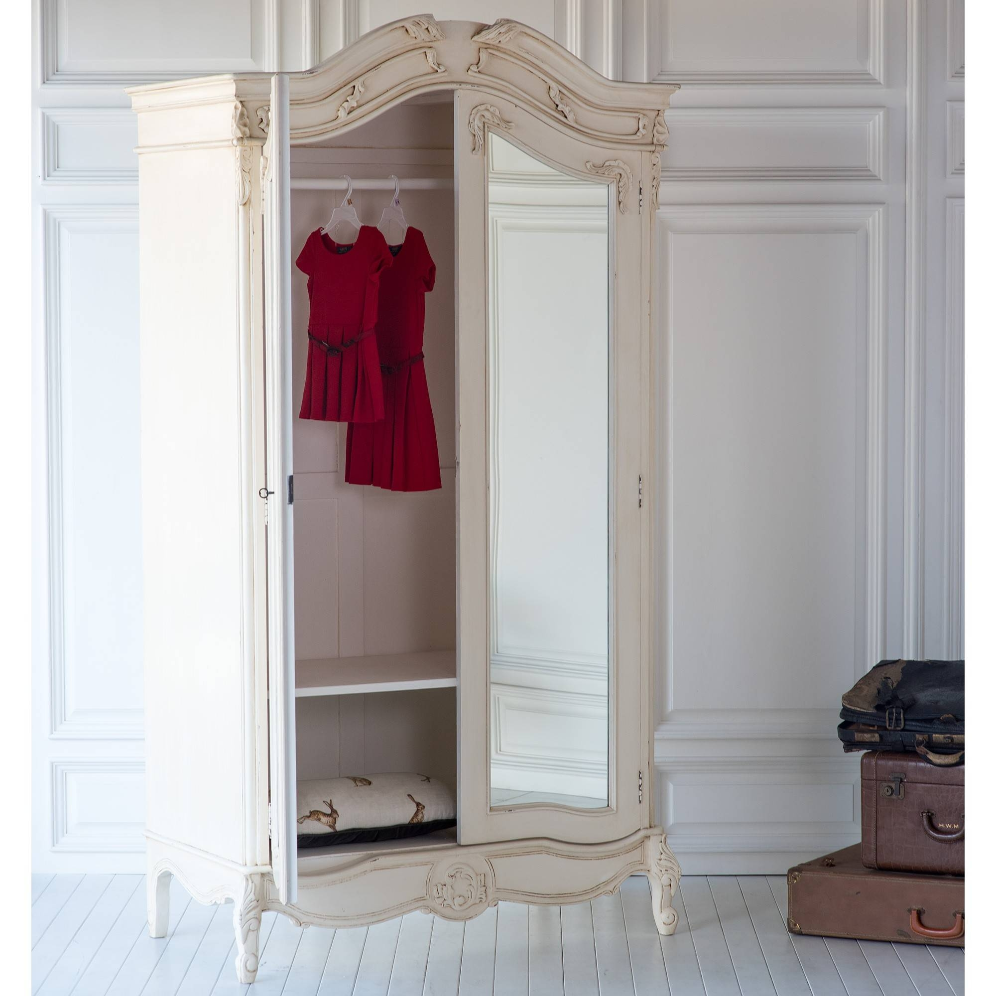 French Grande Wardrobe In Antique Creamthe Beautiful Bed Company With Regard To Cream French Wardrobes (View 5 of 15)