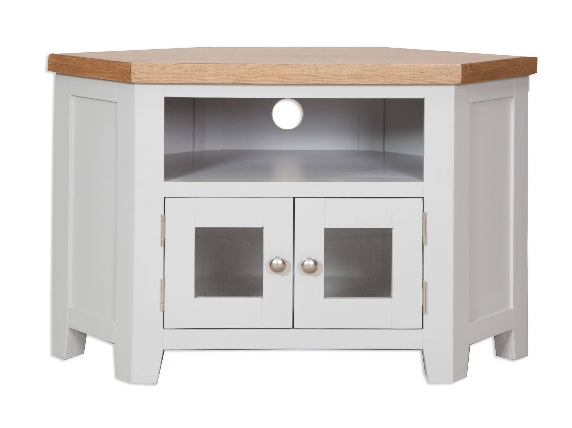 French Grey Glazed Corner Tv Unit - Cambridge Home & Garden with Corner Sideboard Units (Image 19 of 30)