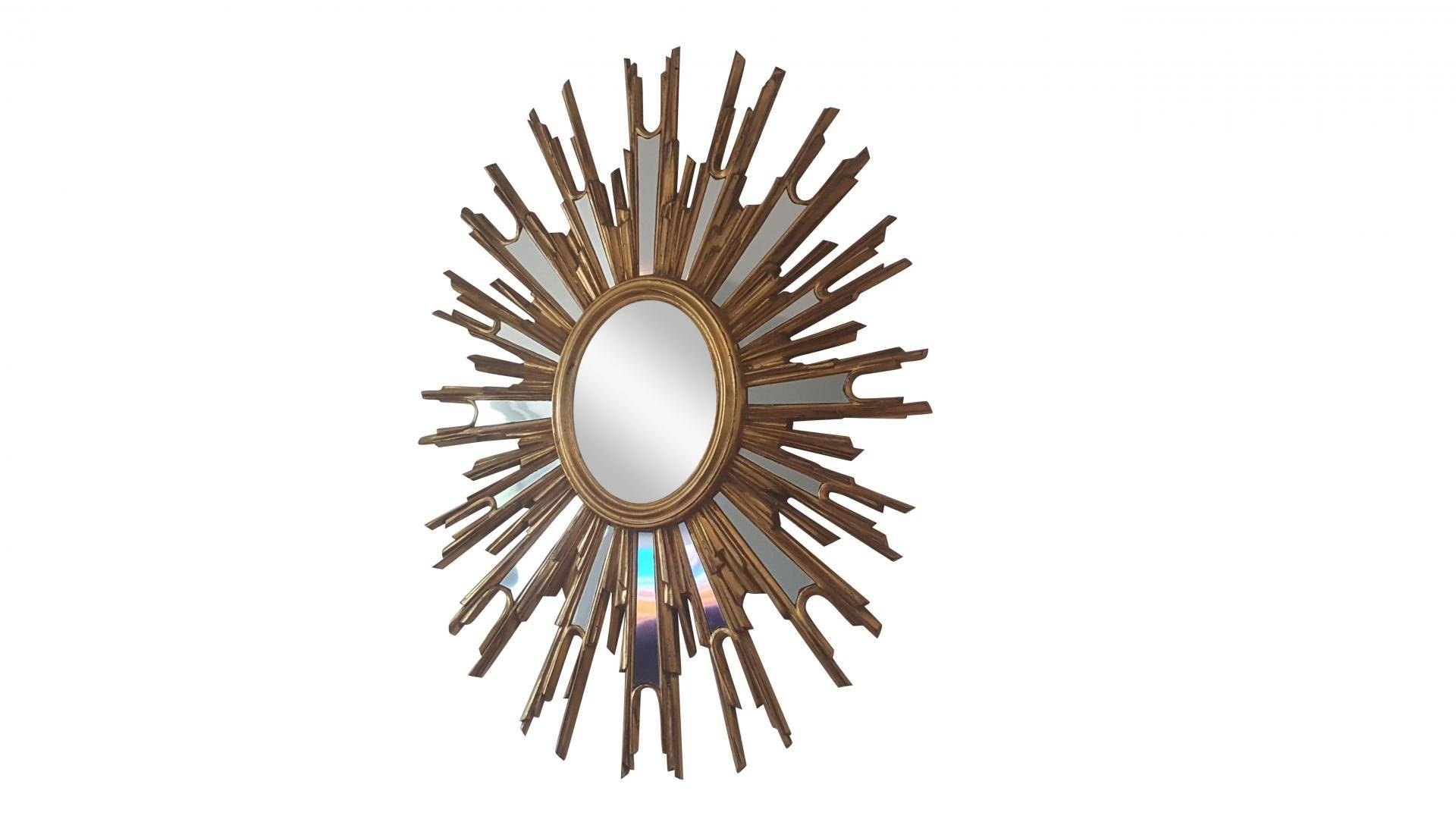 French Large Sunburst Mirror, 1970S For Sale At Pamono with regard to Extra Large Sunburst Mirrors (Image 10 of 25)