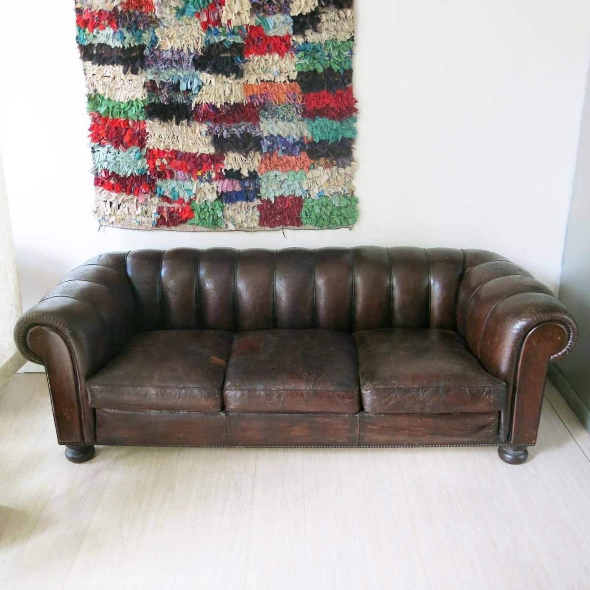 French Leather Chesterfield Sofa, 1930S For Sale At Pamono in 1930S Couch (Image 17 of 30)