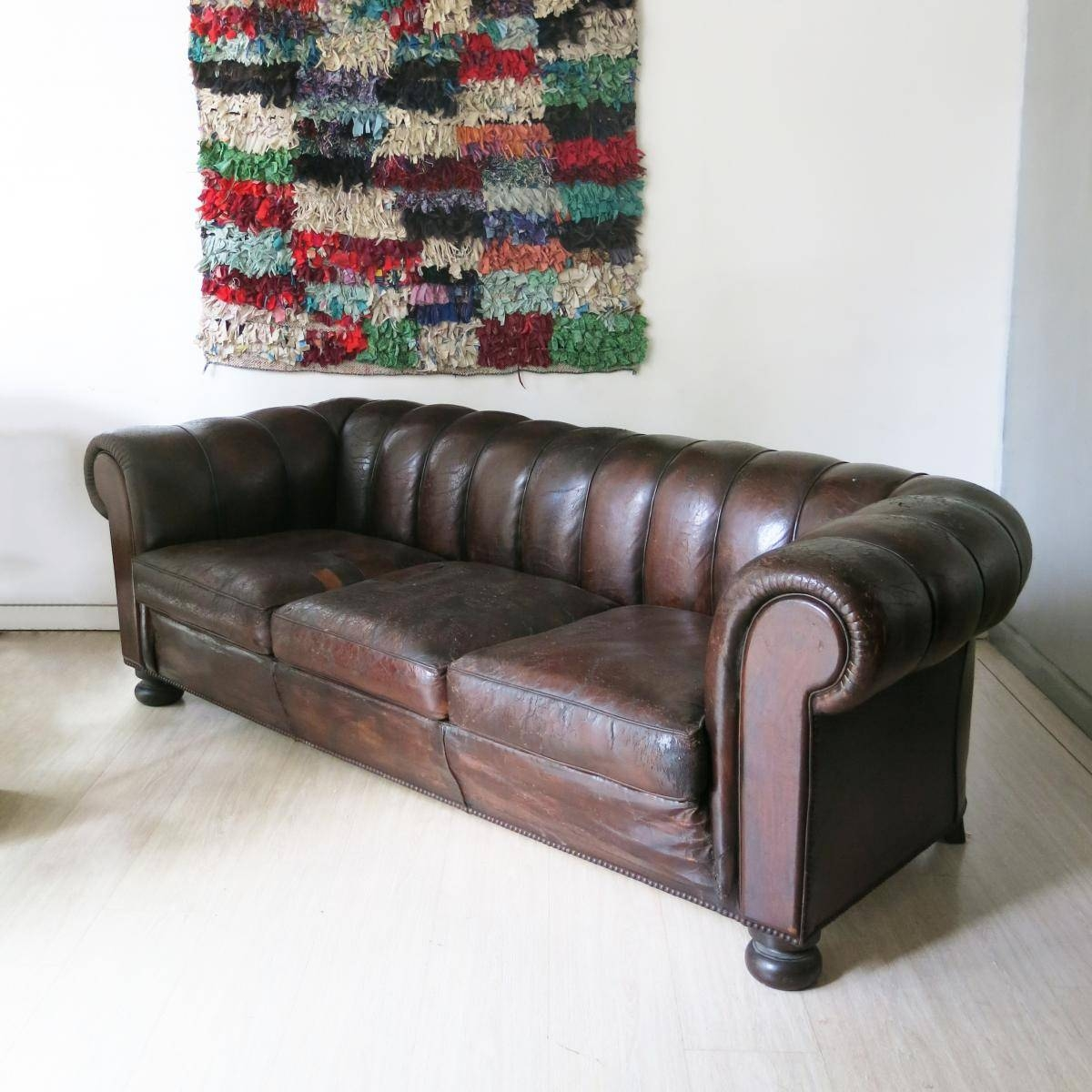 French Leather Chesterfield Sofa, 1930S For Sale At Pamono with regard to 1930S Couch (Image 19 of 30)