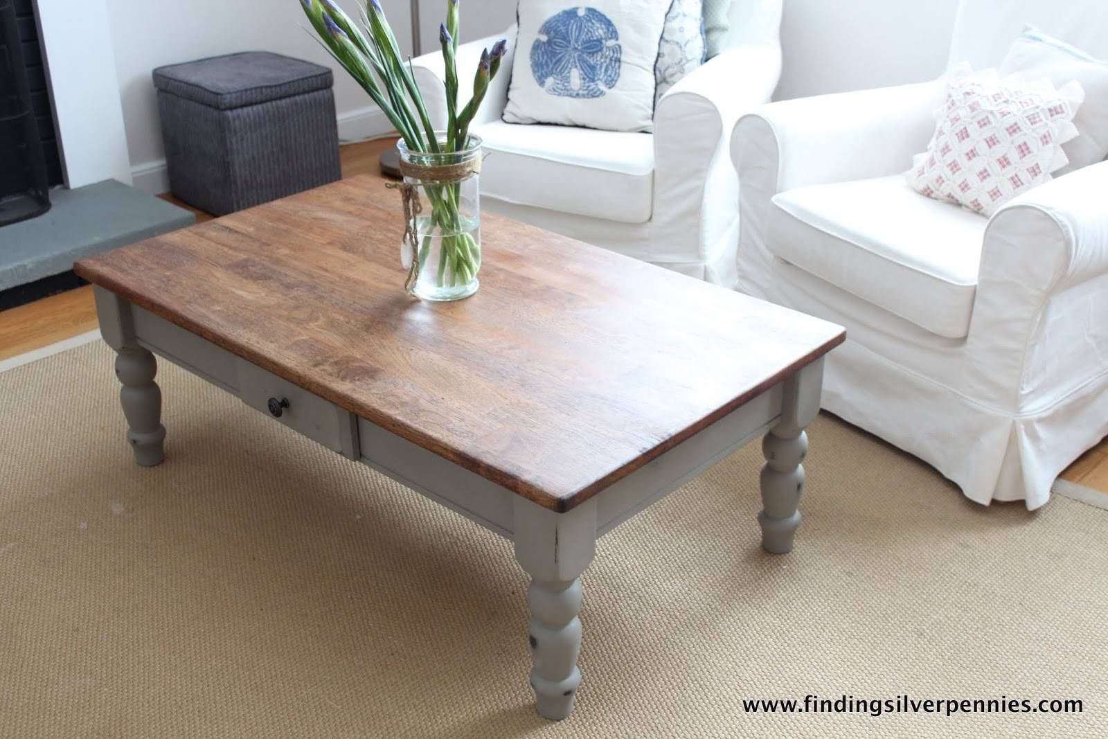 French Linen Coffee Table - Finding Silver Pennies regarding White French Coffee Tables (Image 18 of 30)