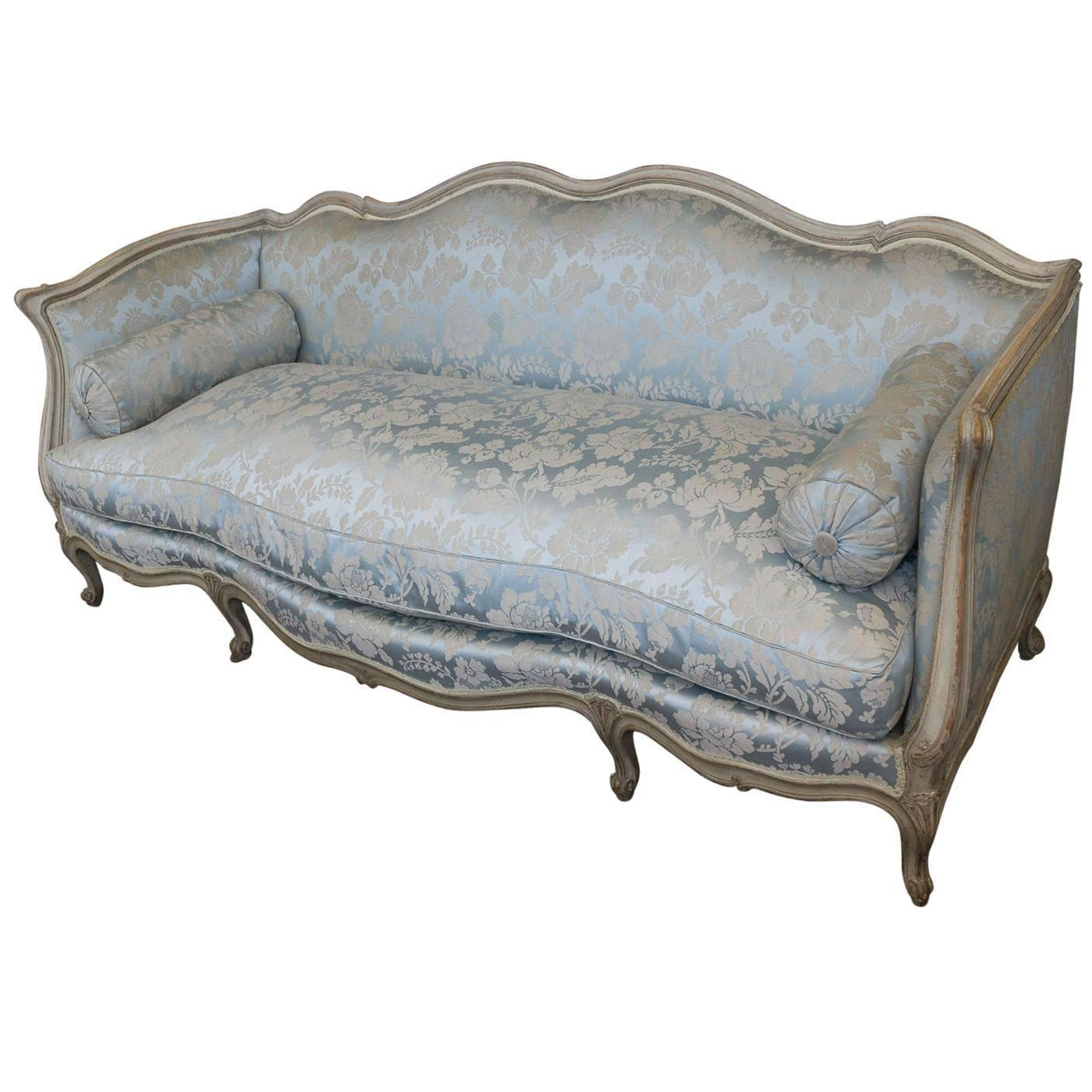 French Louis Xv Style Sofa For Sale At 1Stdibs with French Style Sofa (Image 6 of 25)