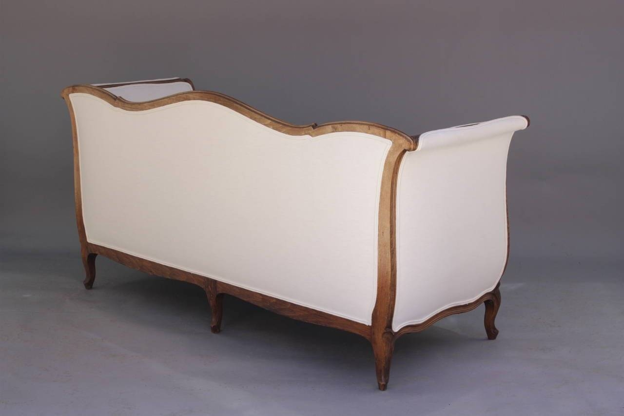 French Louis Xv Style Sofa With Linen Upholstery At 1Stdibs within French Style Sofa (Image 8 of 25)