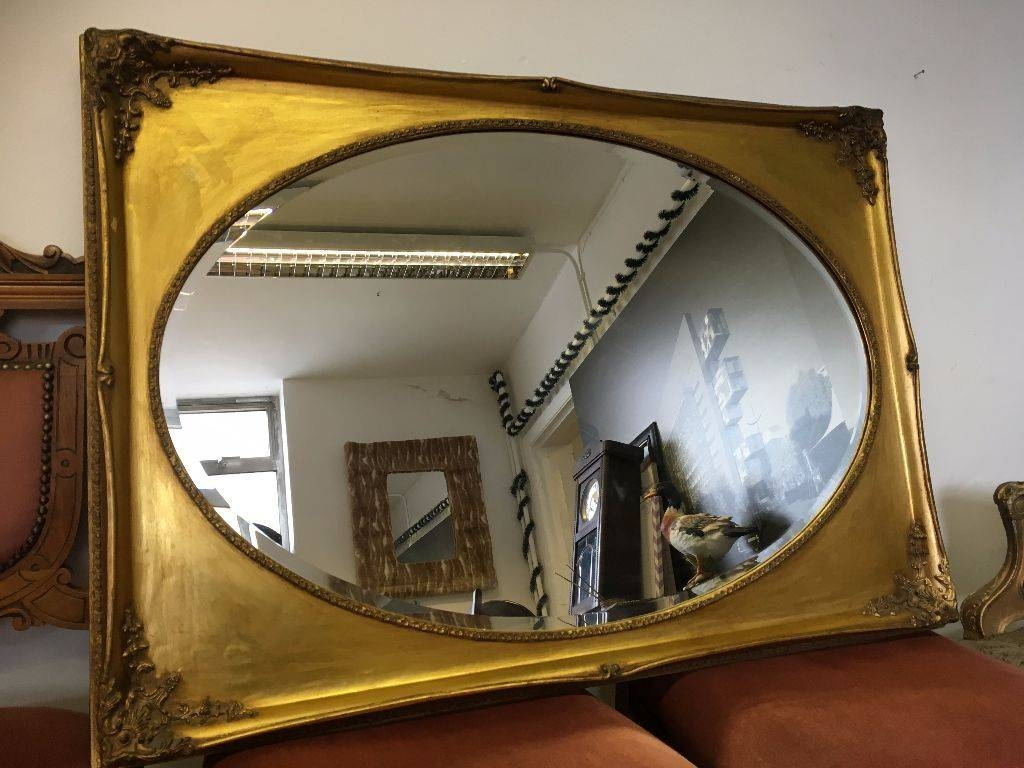 French / Ornate / Rococo Mirror - Over Mantle Mirror - Vintage regarding Vintage Overmantle Mirrors (Image 10 of 25)
