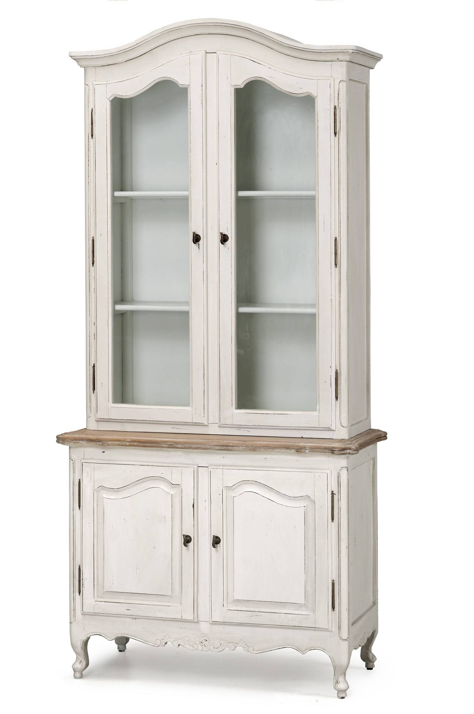 French Provincial Vintage Furniture Classic Display Cupboard Intended For White Vintage Wardrobes (View 12 of 15)