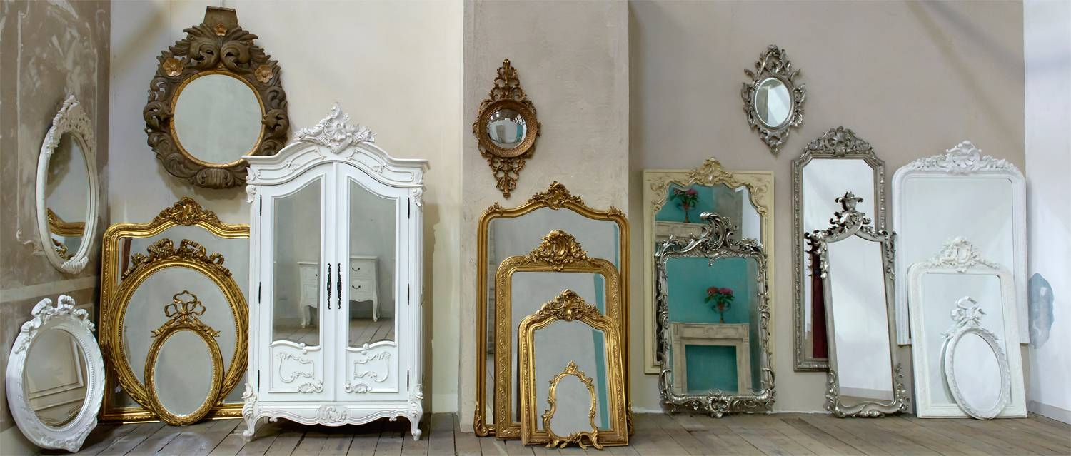 French Rococo Mirrors Dusx - French Mirrors, Chandeliers, Furniture intended for French Mirrors (Image 18 of 25)