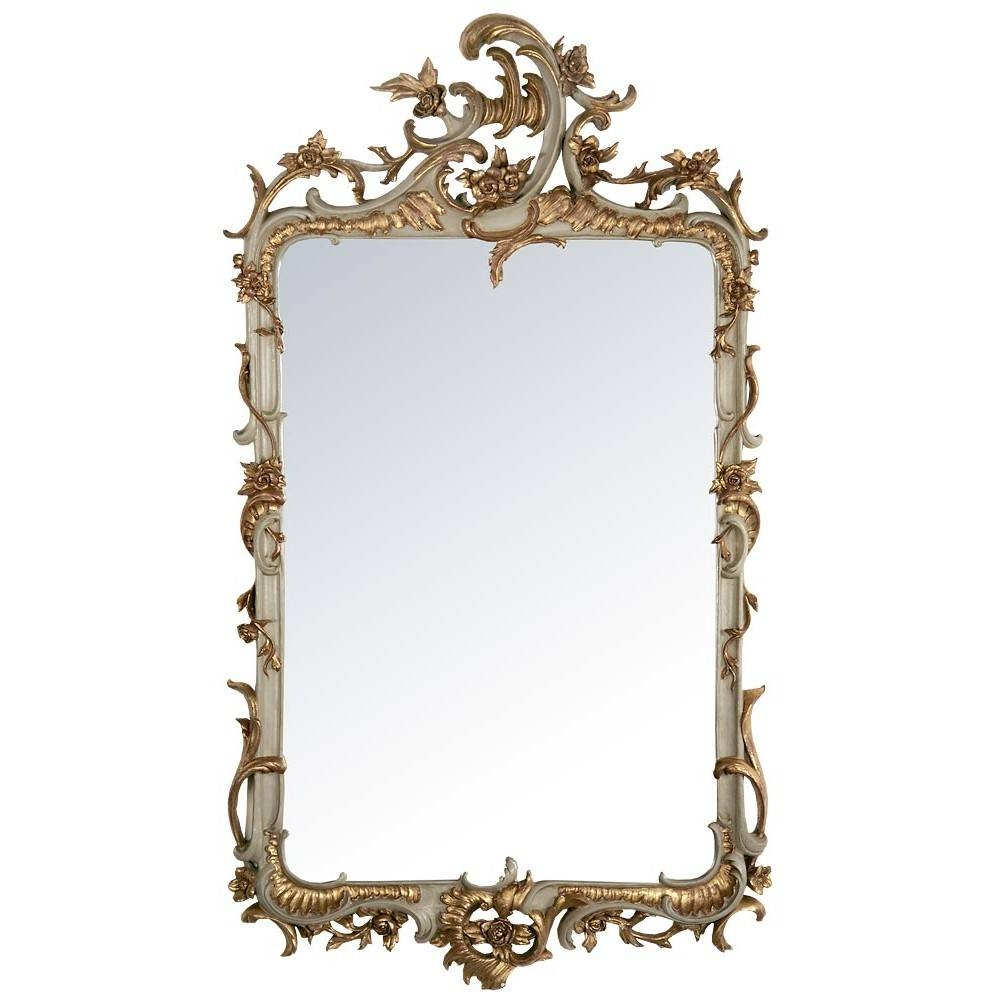 French Rococo Style Mirrors within Gold Rococo Mirrors (Image 15 of 25)
