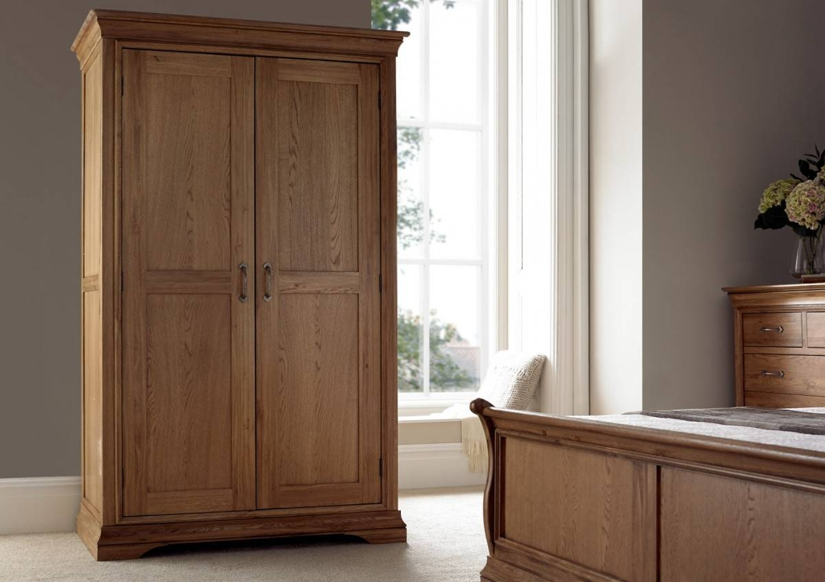 French Style Versaille Rustic Oak Full Length Wardrobe - Wardrobes within Oak Wardrobes (Image 4 of 15)