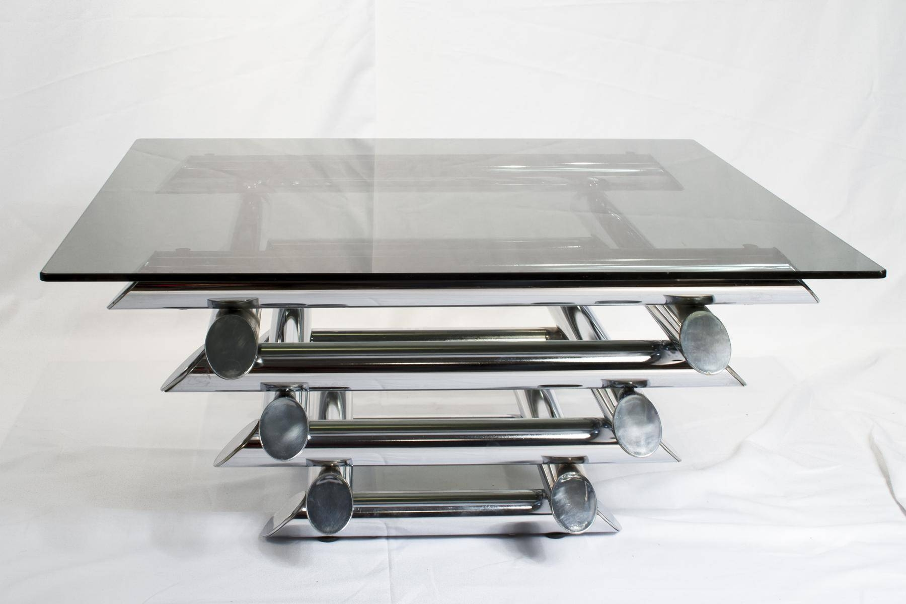 French Tubular Chrome Coffee Table, 1970S For Sale At Pamono within White And Chrome Coffee Tables (Image 13 of 30)