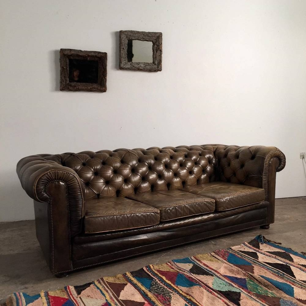 French Vintage Chesterfield Sofa - pertaining to Vintage Chesterfield Sofas (Image 3 of 30)