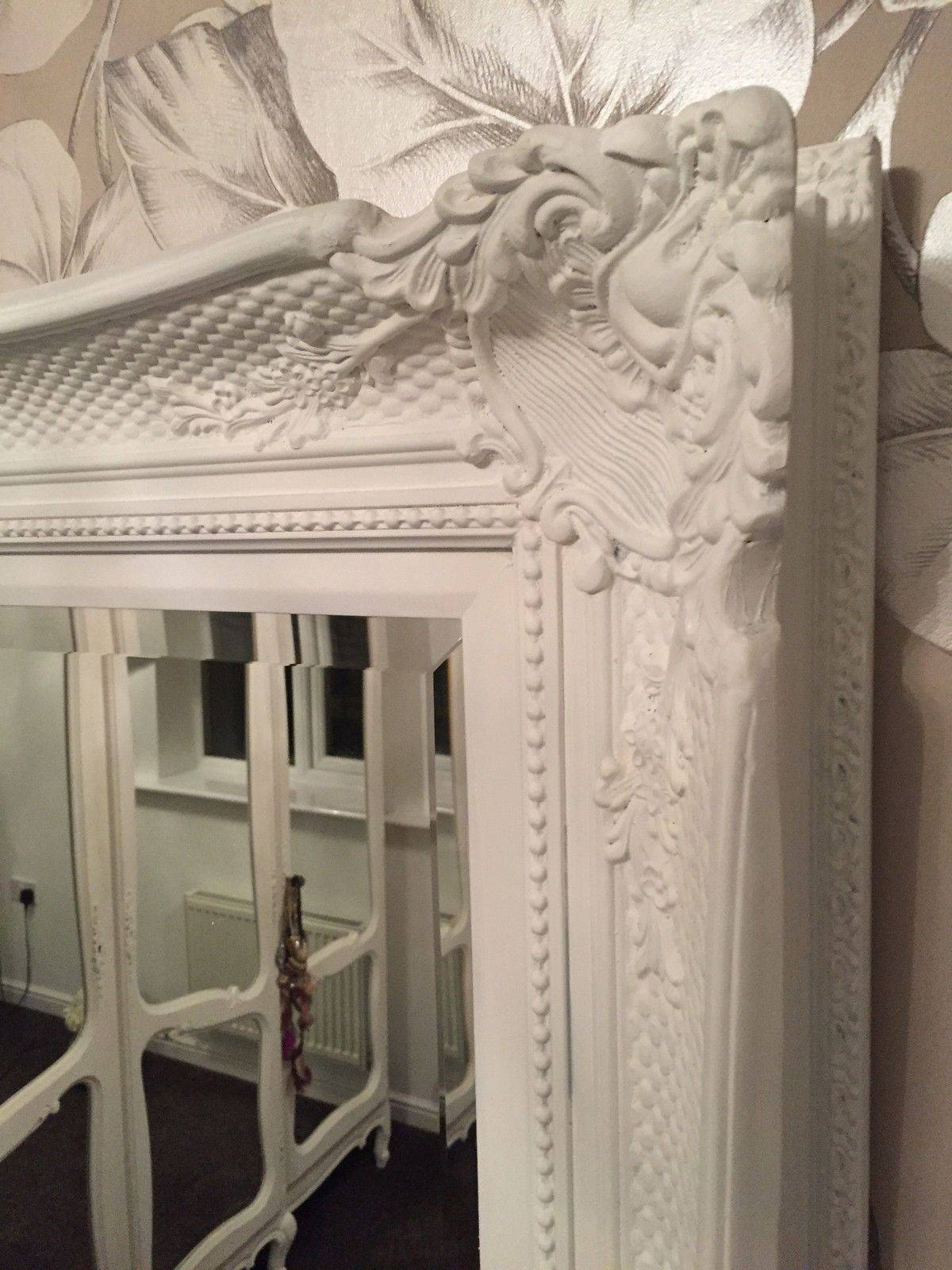 French White Decorative Ornate Mirror - Other Frame Colours Available throughout Large White Ornate Mirrors (Image 8 of 25)